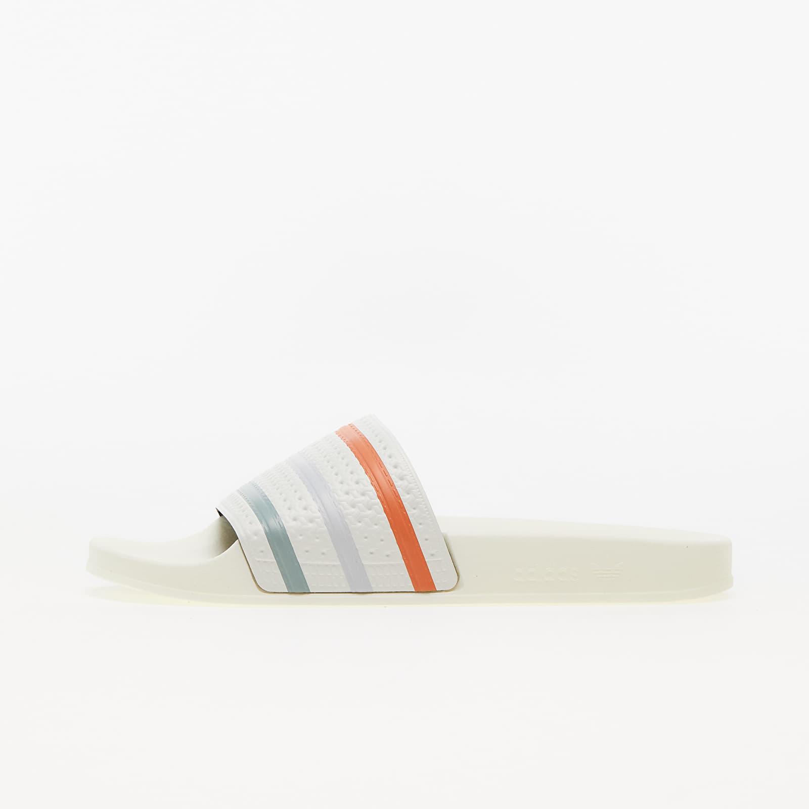 adidas Adilette Off White/ Hazy Copper/ Halo Blue EUR 40.5