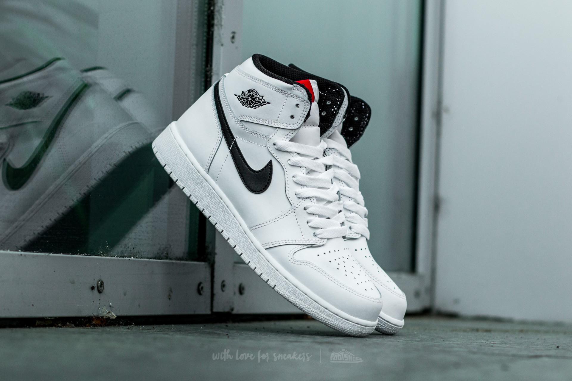 Air Jordan 1 Retro High OG (BG) White  Black-White-University Red ... 7ddb6566af