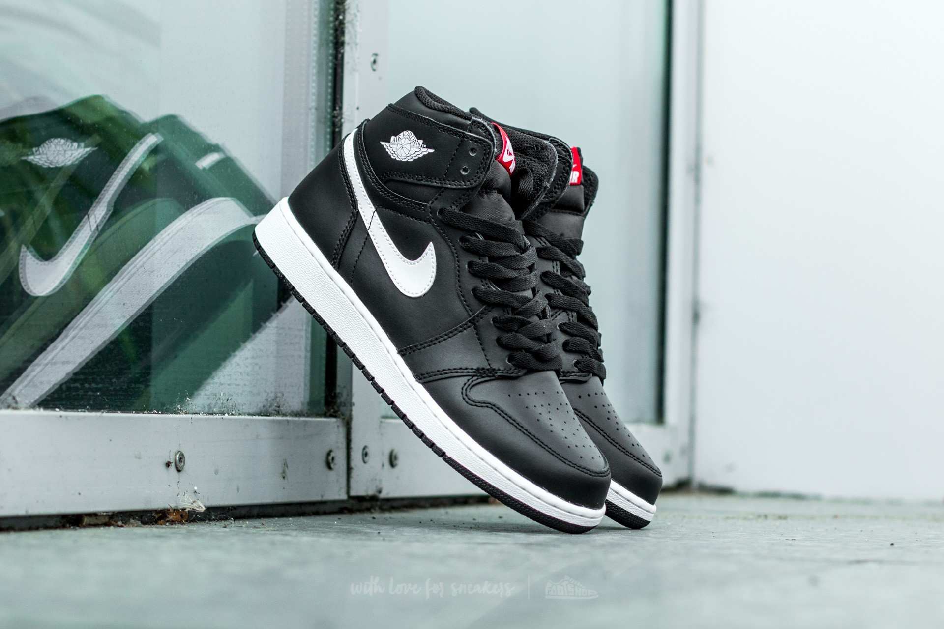 Air Jordan 1 Retro High OG (BG) Black  White-Black-University Red ... 106efefae