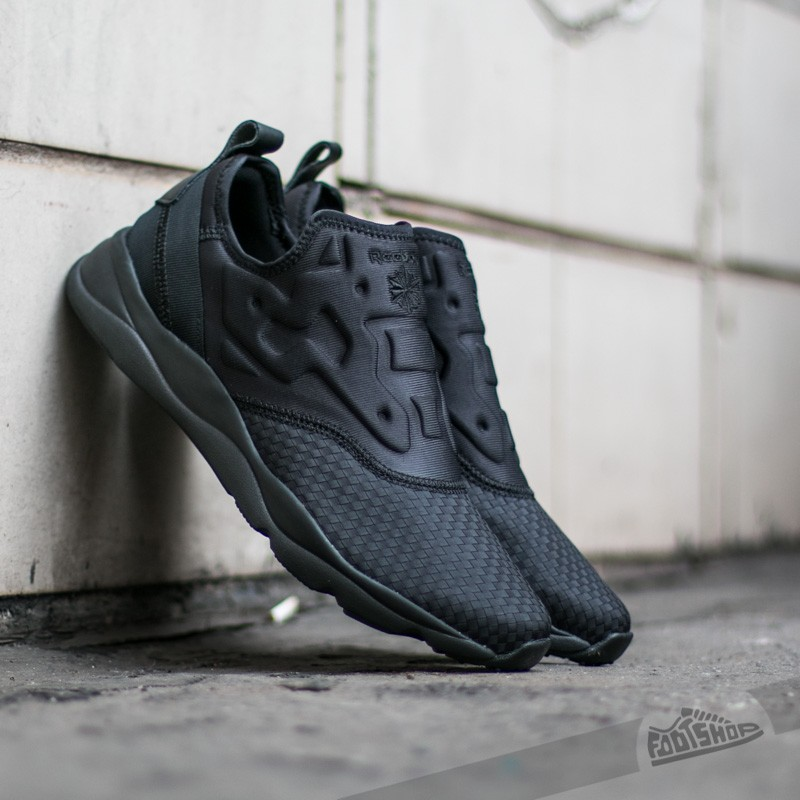 29df231cac680e Reebok Furylite Slip-On Woven Men Black