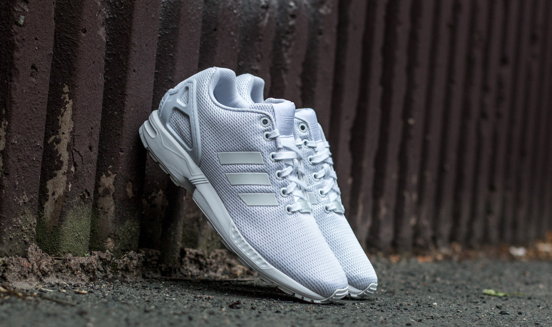 adidas ZX Flux Ftw White/ Ftw White/ Cool Grey EUR 45 1/3