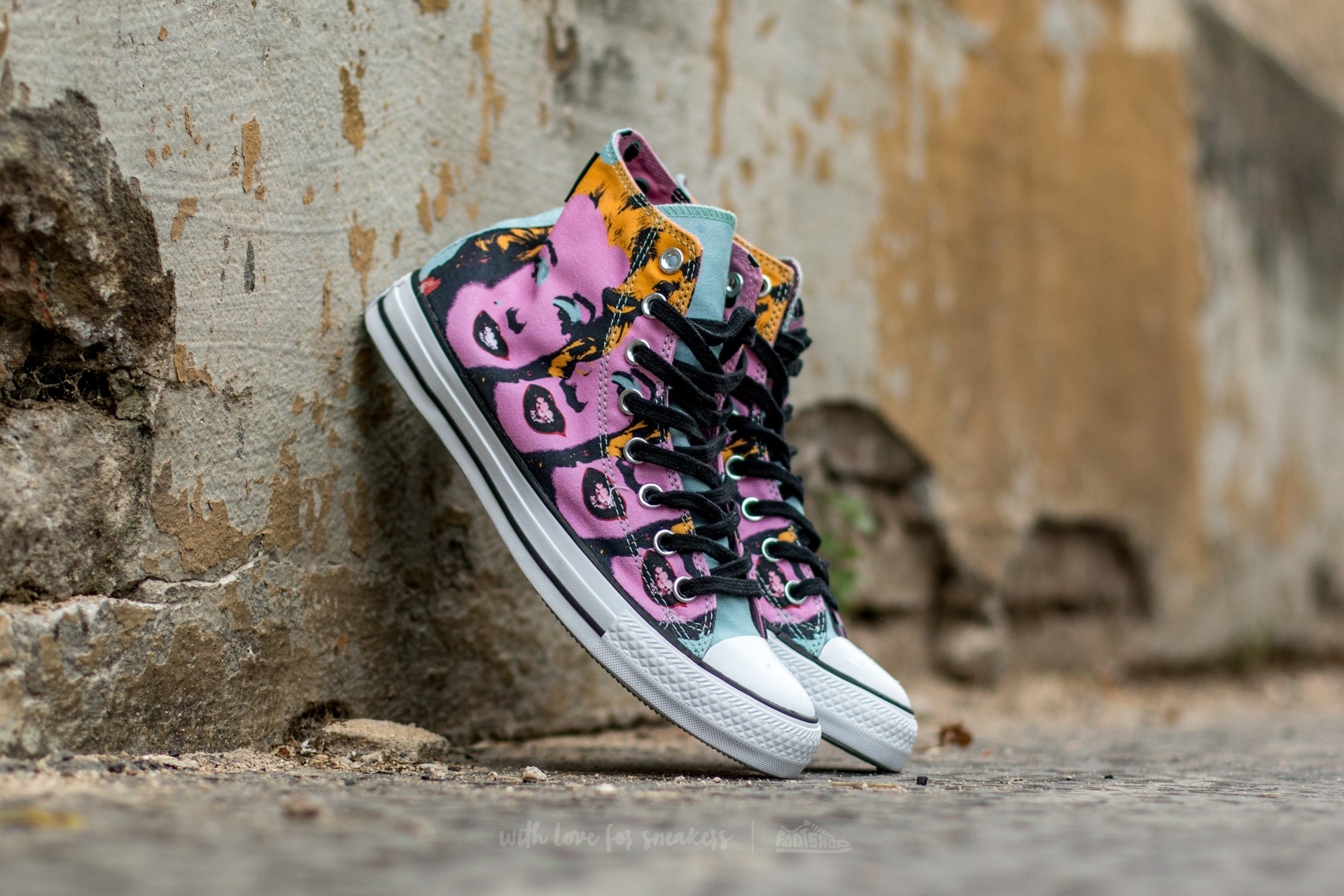 413c213c02d8 Converse Chuck Taylor All Star Hi Andy Warhol Lichen  Orchid Smoke  White