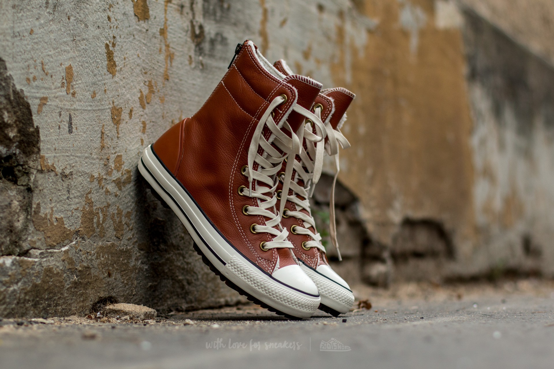 2ff2b913db2e Converse Chuck Taylor All Star Hi-Rise Boot Leather + Fur Antique Sepia   Parchment