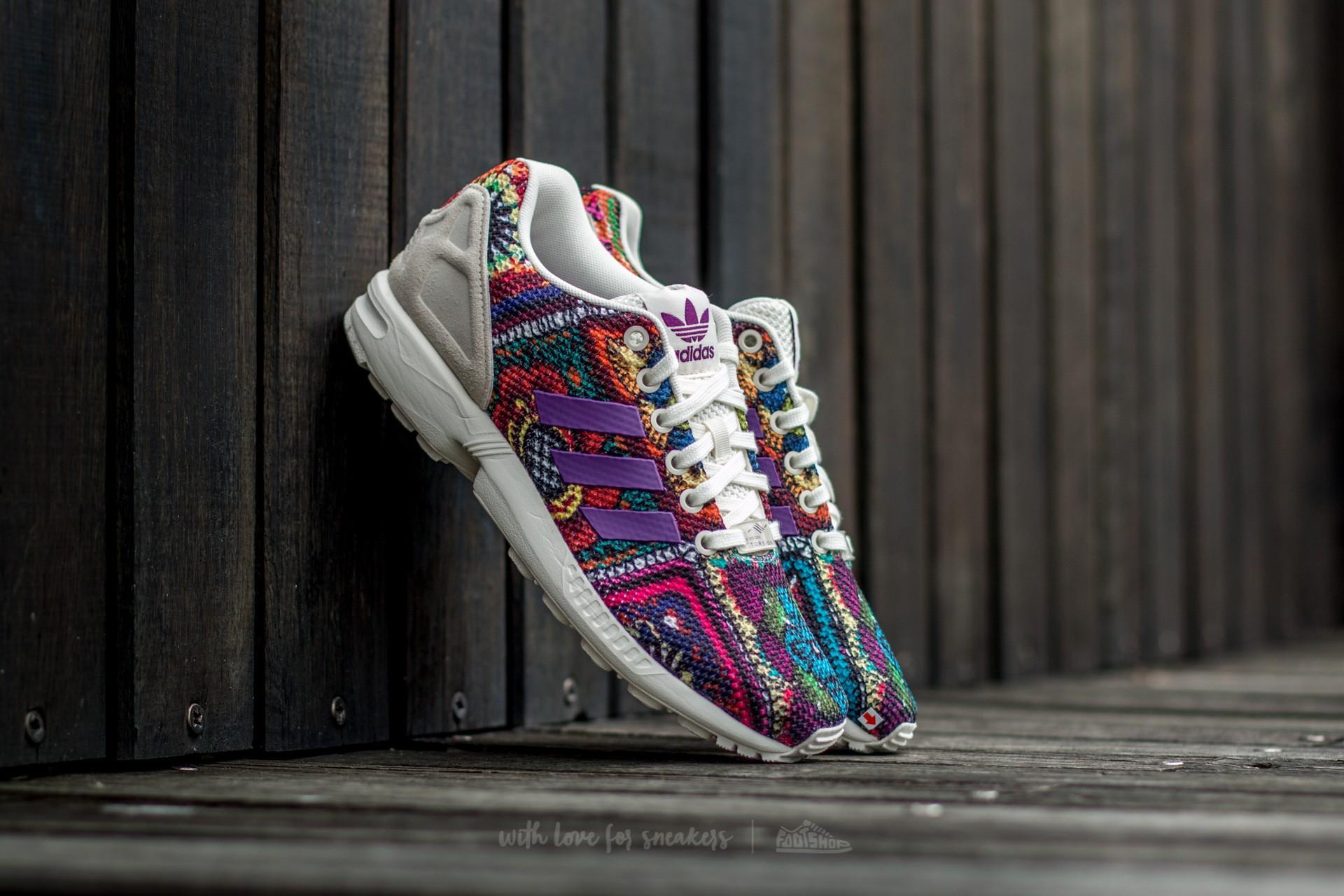 Popa Uva lila  Women's shoes adidas ZX Flux W Off White/ Off White/ Mid Grape | Footshop