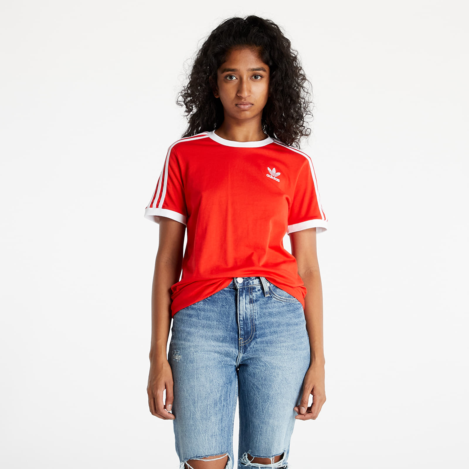 adidas 3 Stripes Tee Red S/34