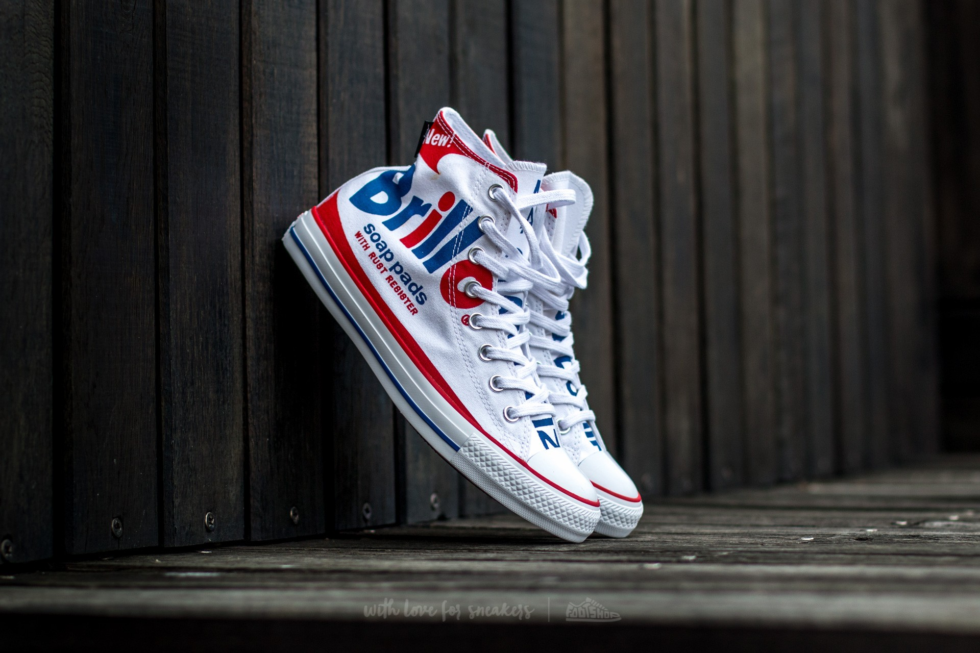 Converse Chuck Taylor All Star Hi Andy Warhol White Red Blue   Footshop