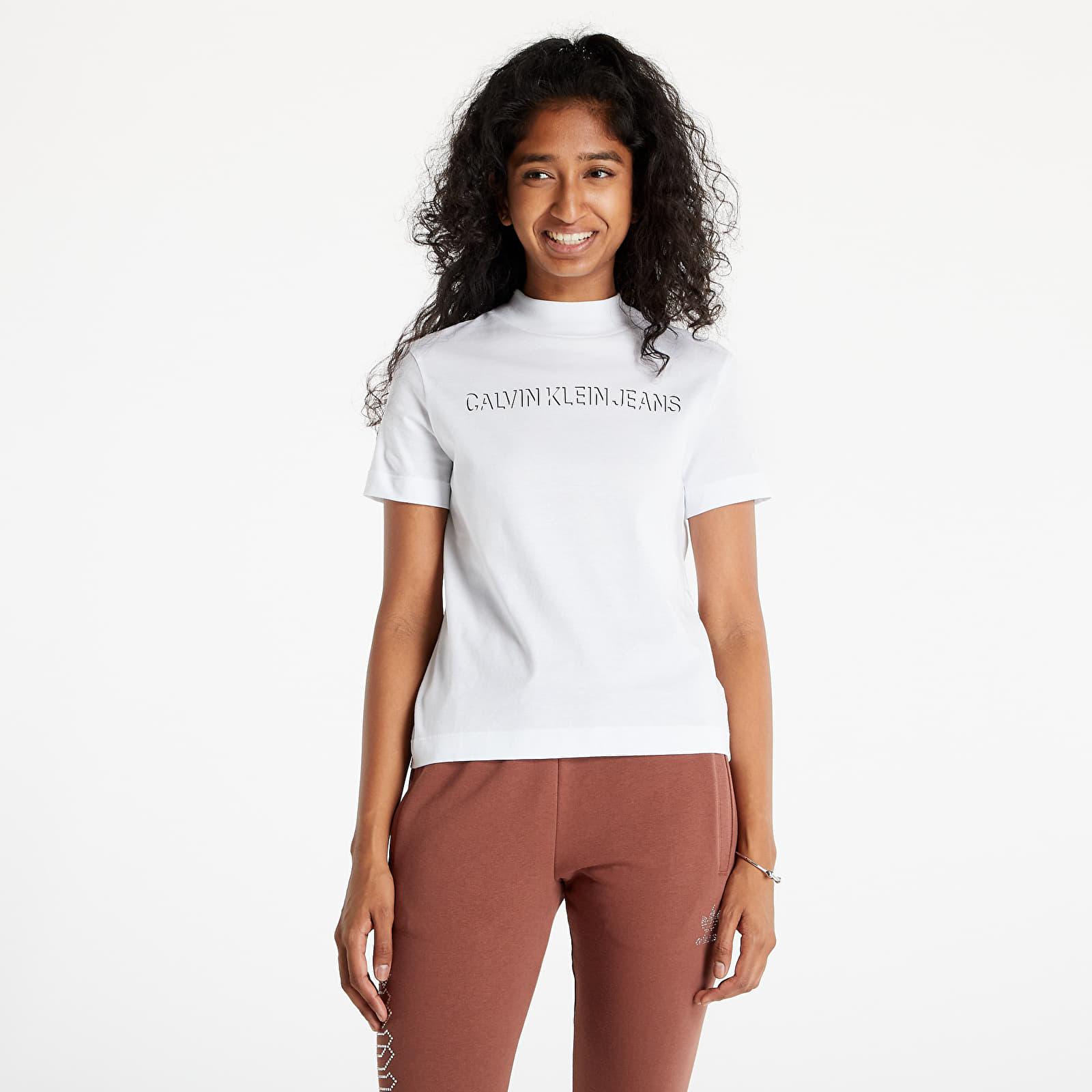 Calvin Klein Jeans Shadow Logo Tee Bright White