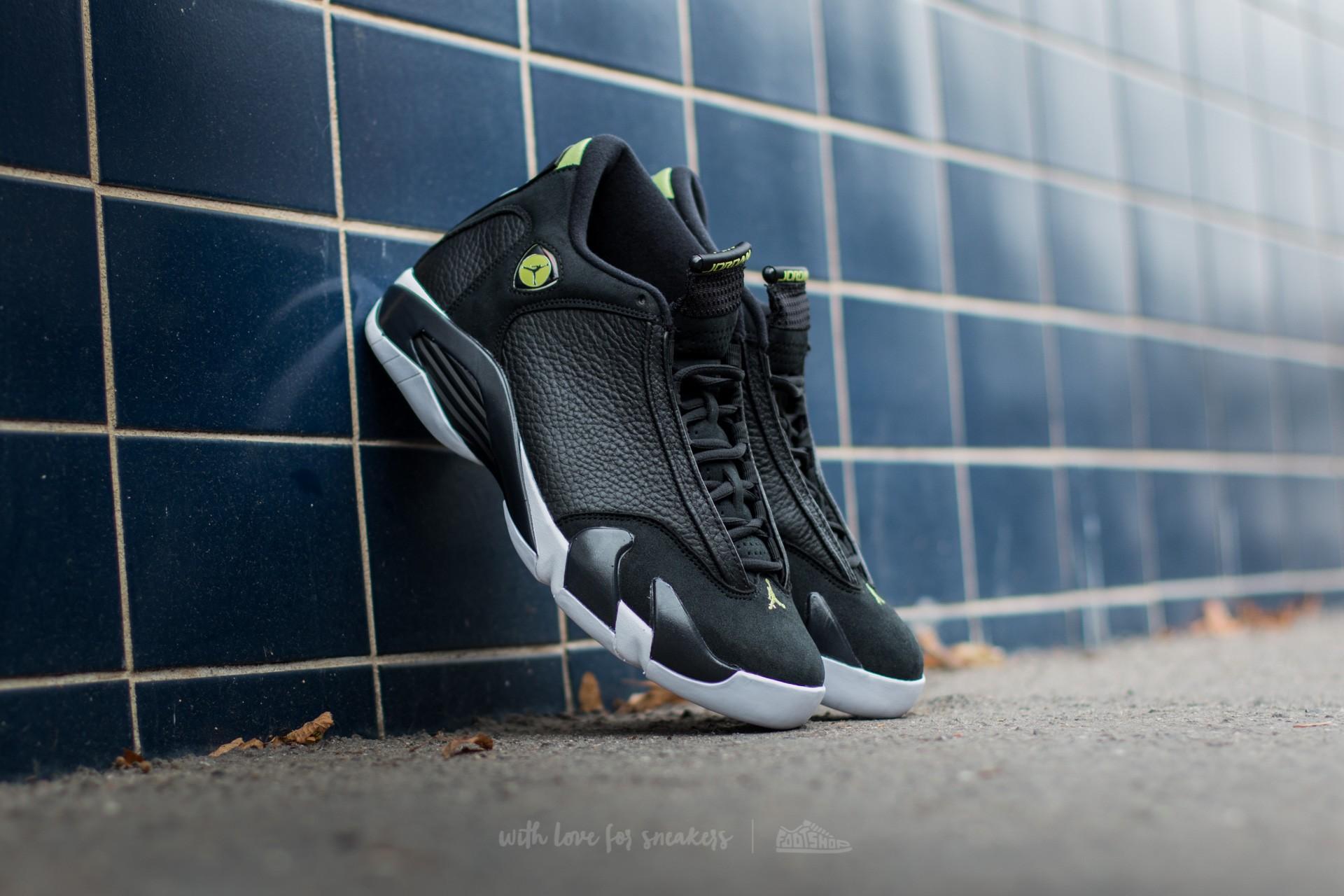 new product a8764 dbe37 Air Jordan 14 Retro. Black  Black-White-Vivid Green
