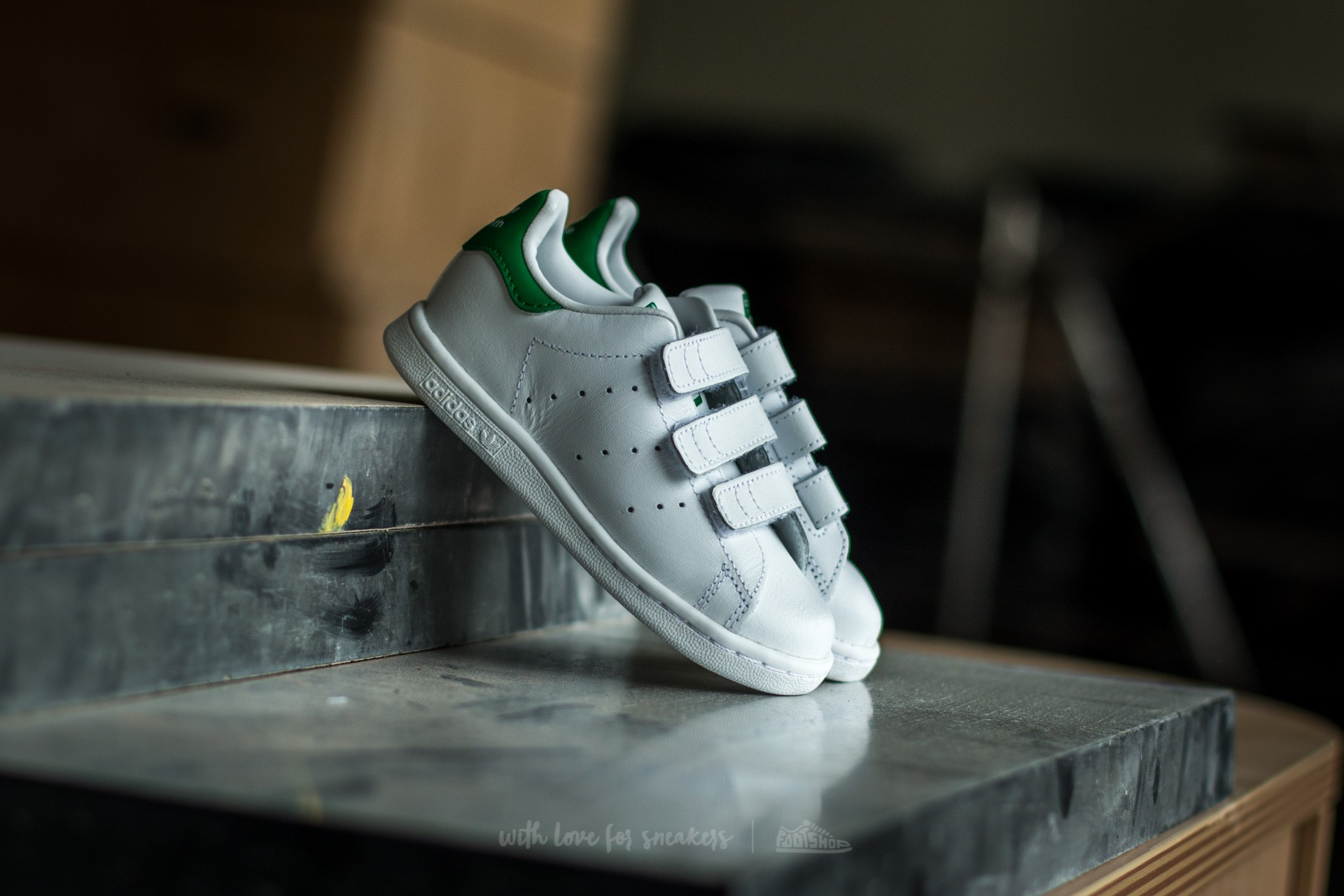 adidas Stan Smith CF I Ftw White  Ftw White  Green  d801104af