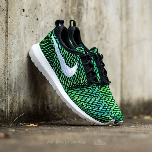 Nike Roshe NM Flyknit Black  White-Voltage Green-Volt  42f31428b1c2
