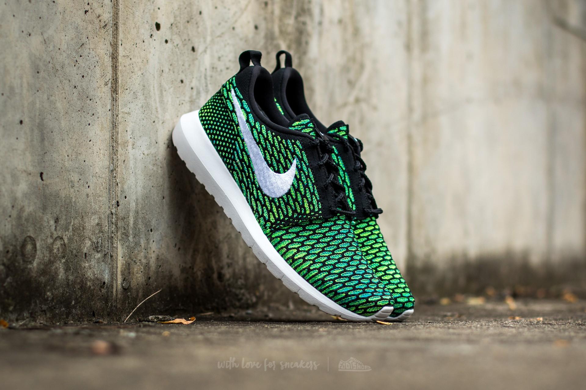 size 40 80b39 3268e Nike Roshe NM Flyknit Black/ White-Voltage Green-Volt | Footshop