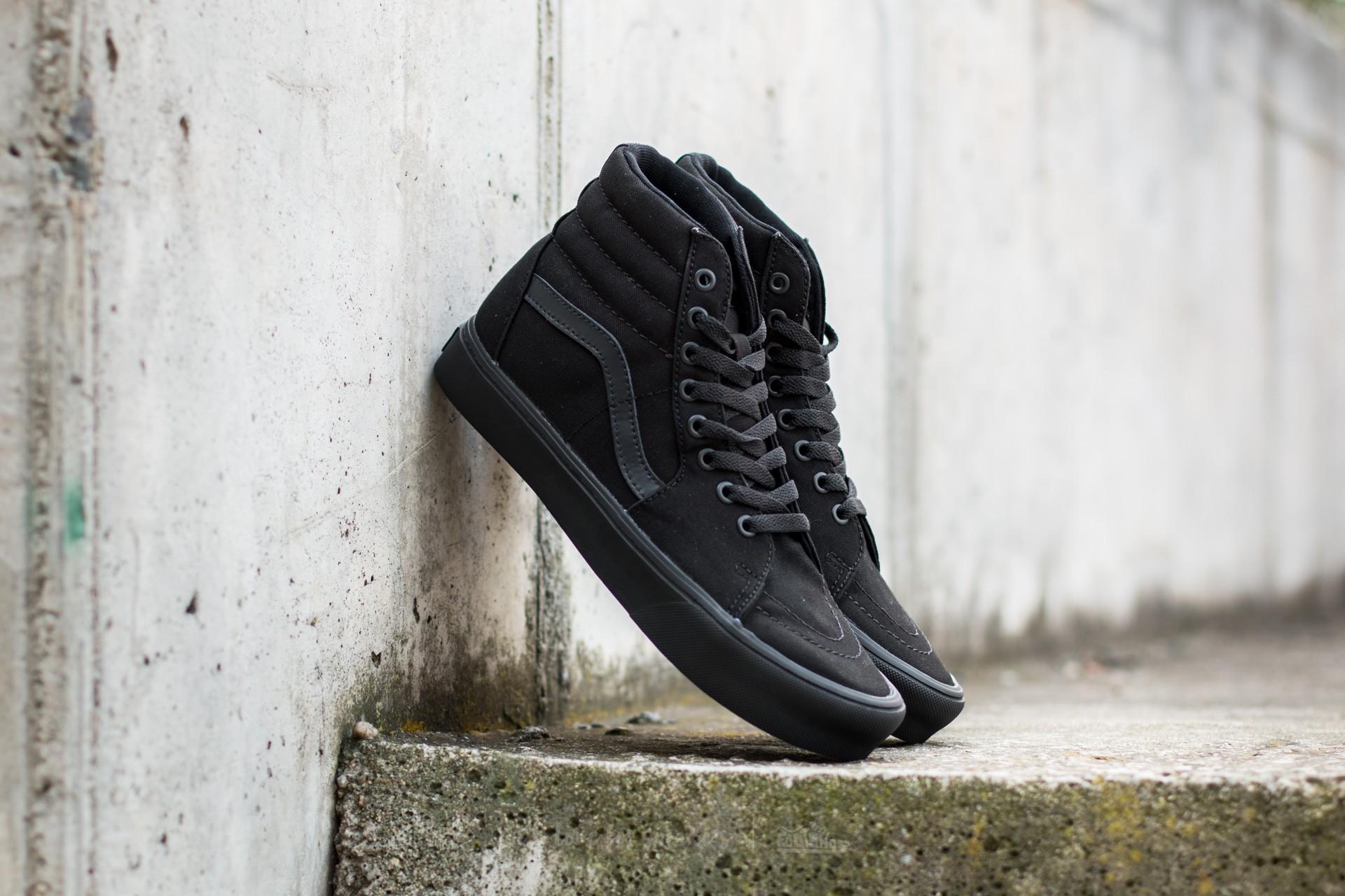 Vans Sk8-Hi Lite (Canvas) Black/ Black | Footshop