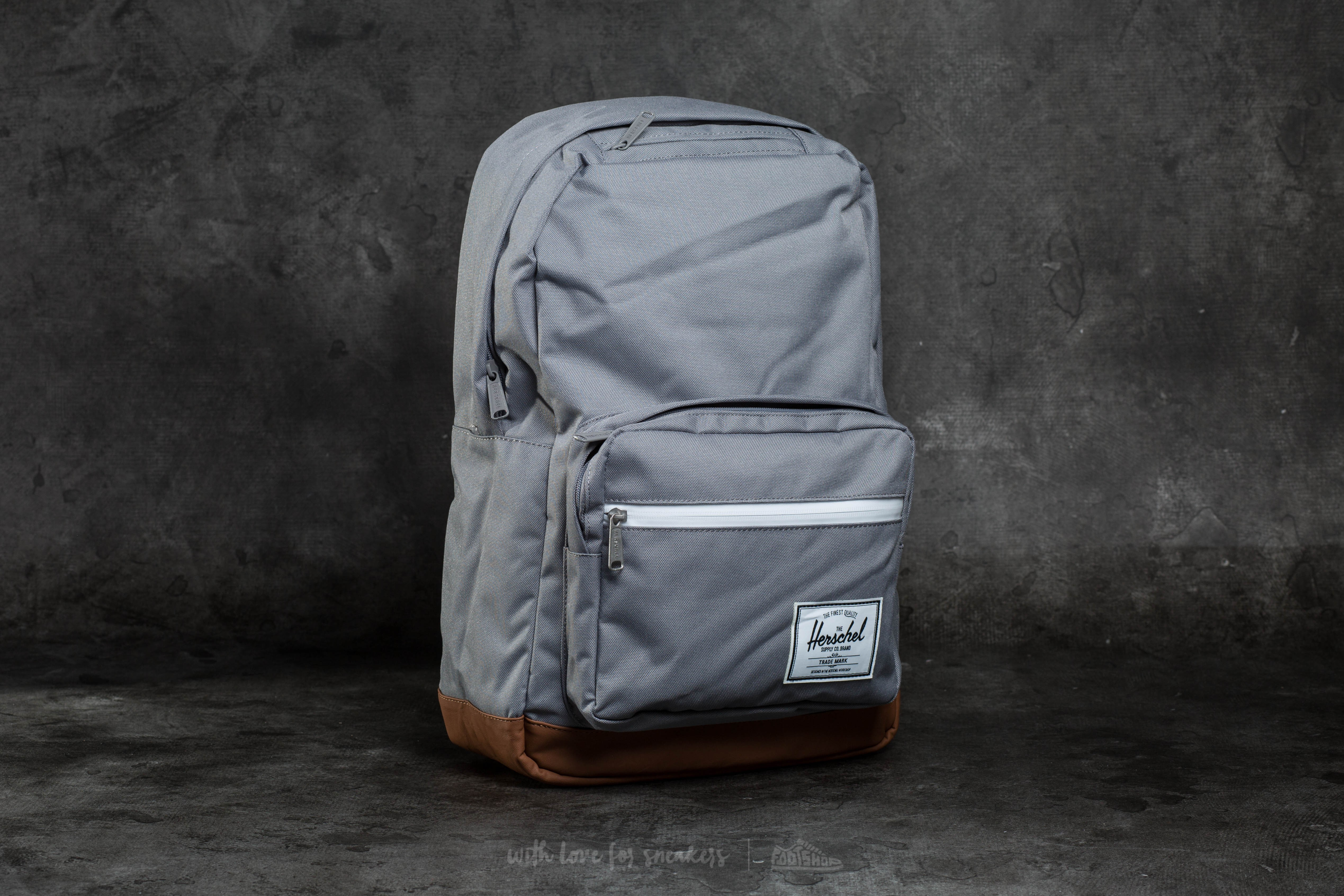 6aacc6ab200d Herschel Supply Co. Pop Quiz Backpack Grey  Tan Synthetic Leather ...