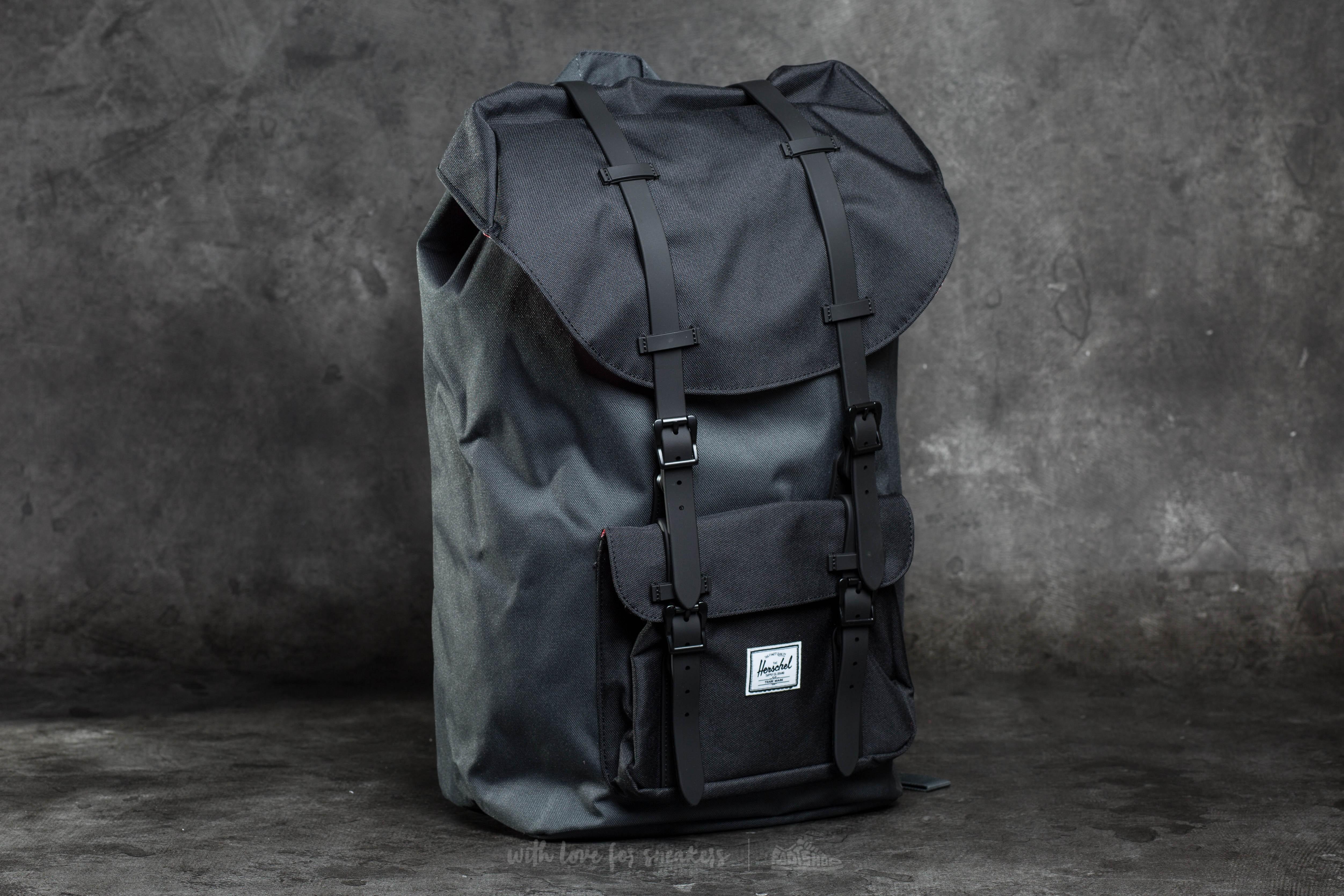 c045374242e Herschel Supply Co. Little America Backpack Dark Shadow  Black ...