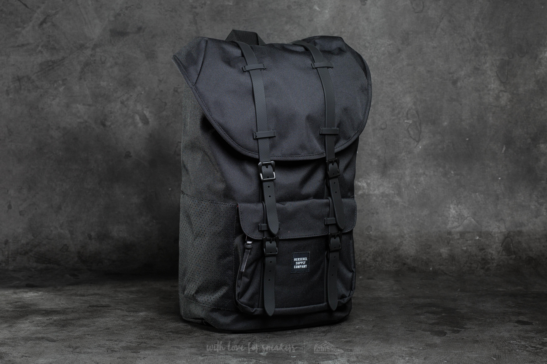 409a7274f090 Herschel Supply Co. Little America Backpack Black  Black Rubber ...