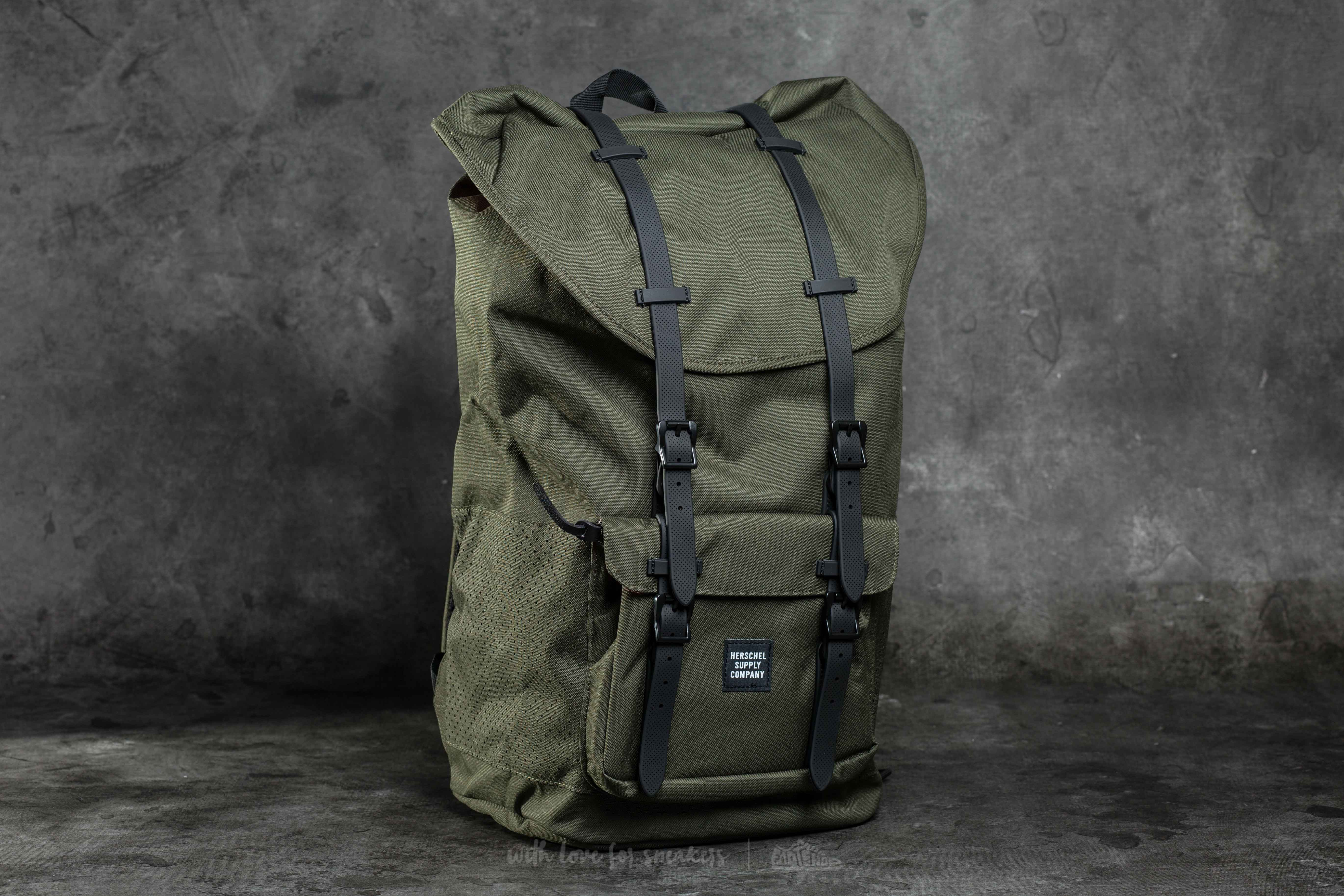 Herschel Supply Co. Little America Backpack Forest Night  Black Rubber 7be28fc29f16d
