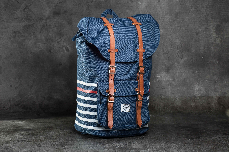 8c759d4c2bd Herschel Supply Co. Little America Backpack Navy Offset Stripe ...