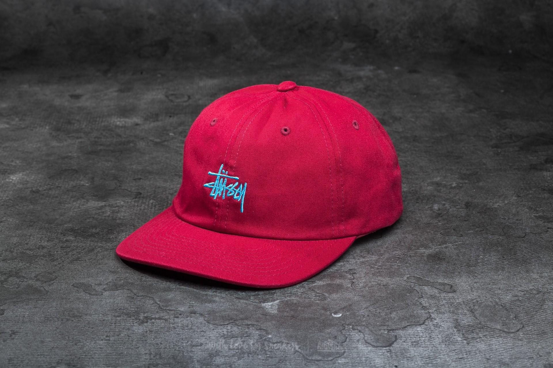 Stüssy Basic Logo Twill Cap Cardinal  93f5ec89132