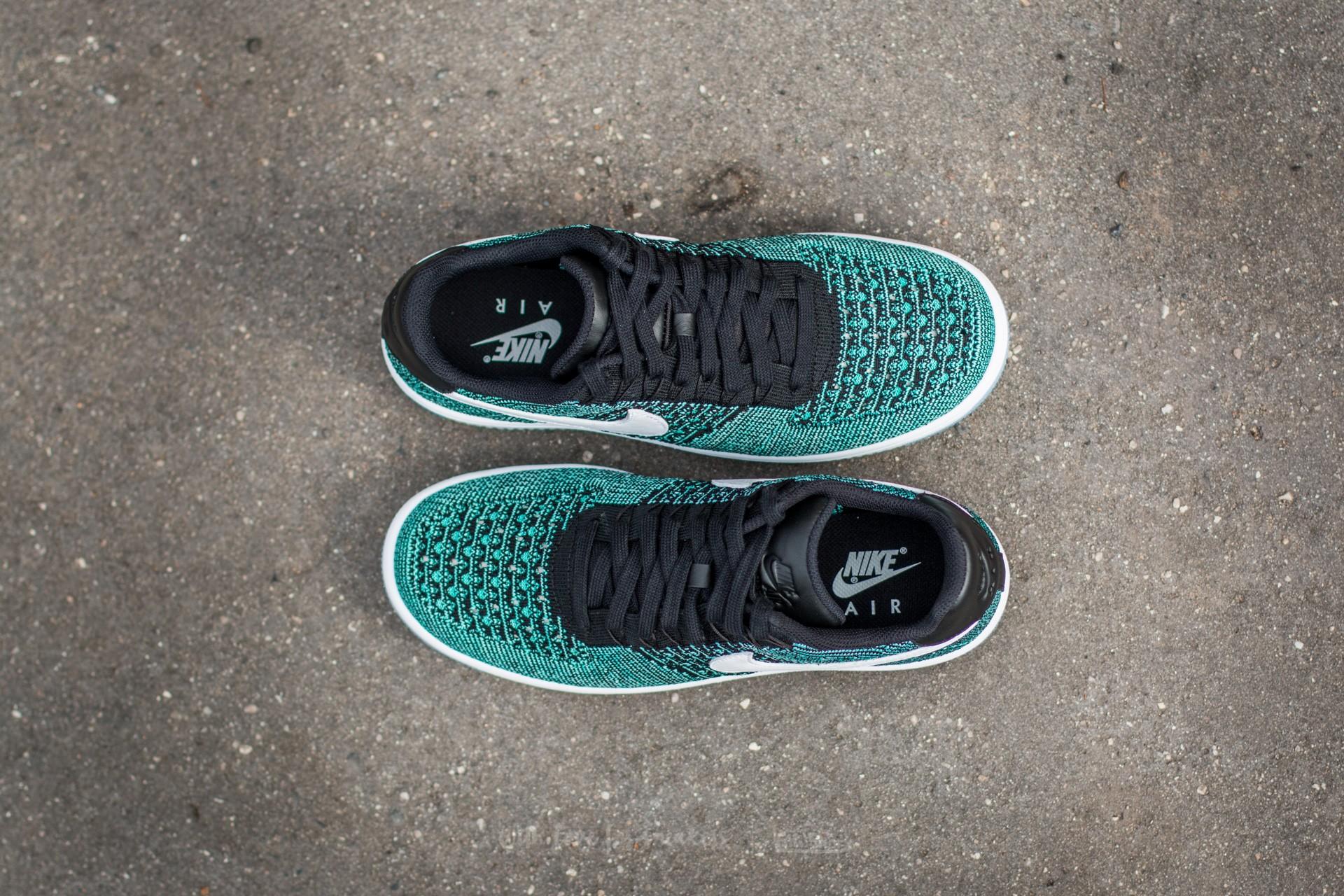 Nike Air Force 1 Ultra Flyknit Low Hyper Jade White Black Hyper Turquoise | Footshop