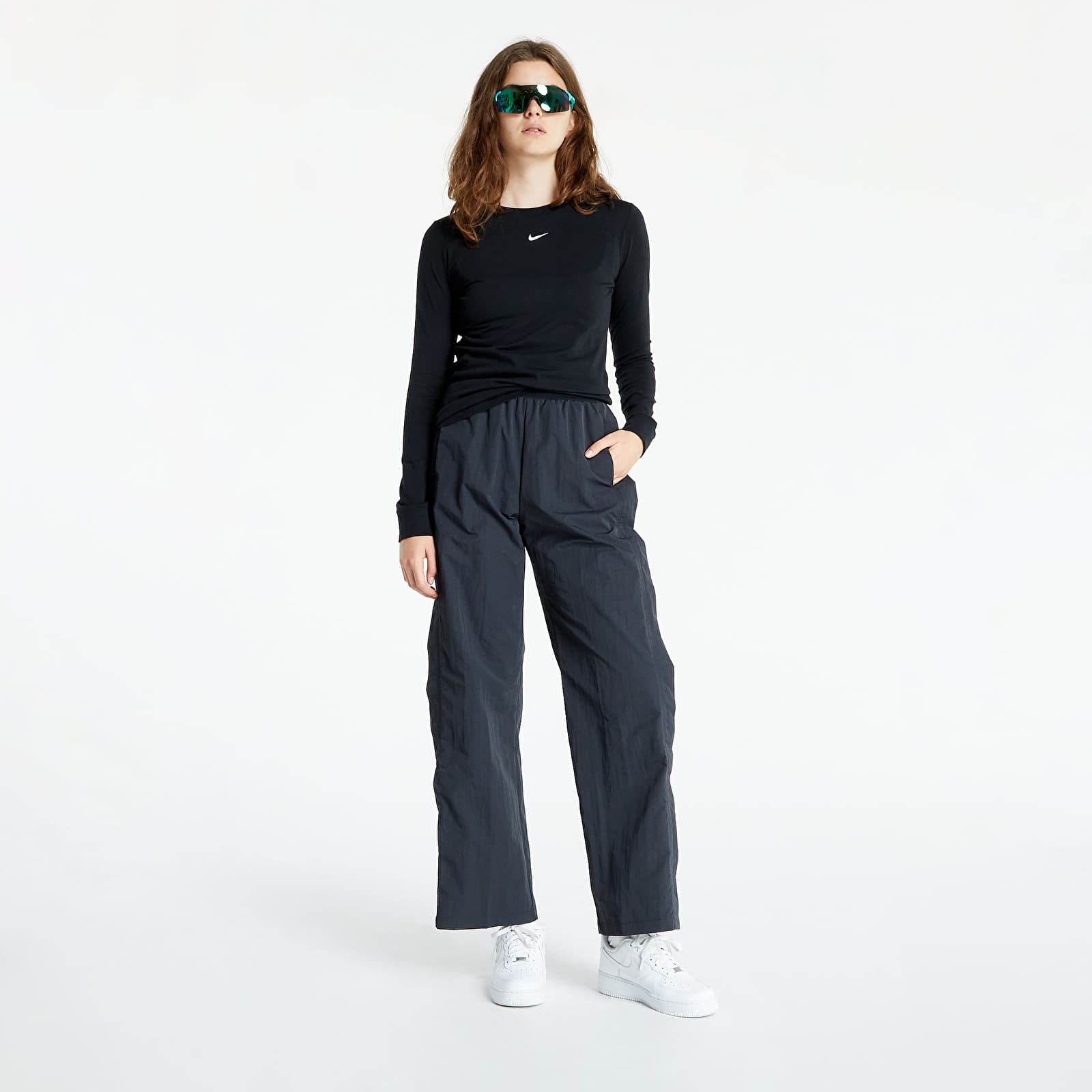 Nike Sportswear Essential Lbr Longsleeve Tee Black/ White EUR S