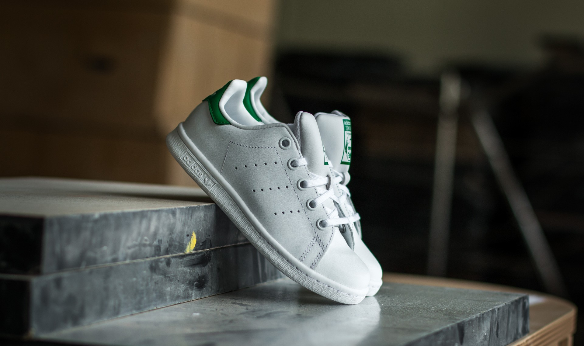 adidas Stan Smith C FTW WhiteFTW WhiteGreen