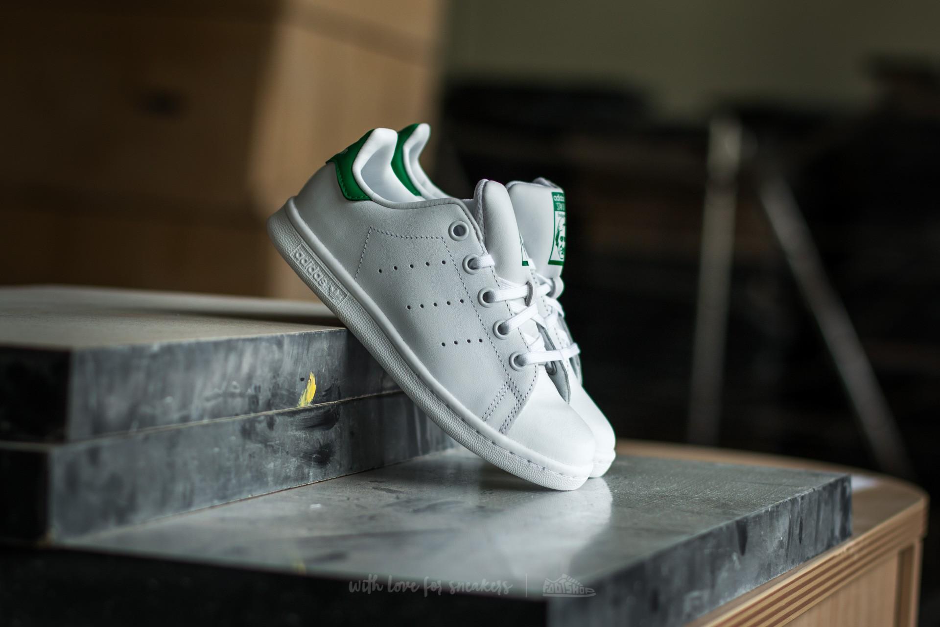 adidas Stan Smith C FTW White/FTW White/Green za skvělou cenu 1 490 Kč koupíte na Footshop.cz