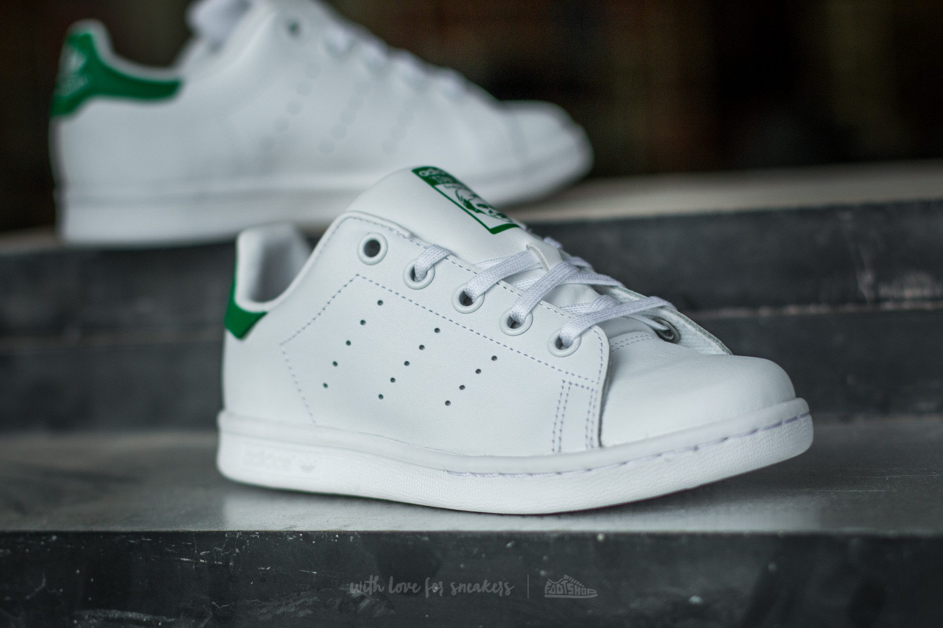 adidas Stan Smith C FTW White FTW White Green at a great price 55 1111647e47a4