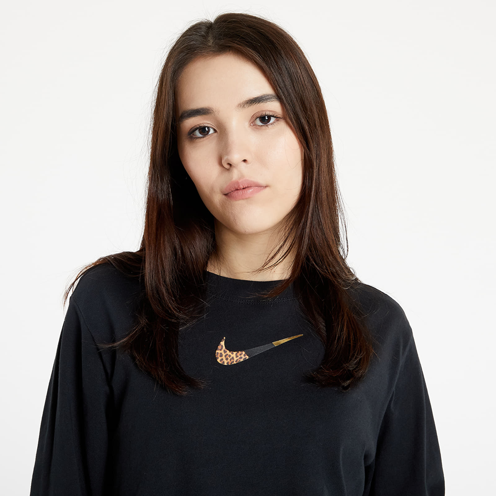 Nike Sportswear W NSW Tee Ls Boxy Patch Black S
