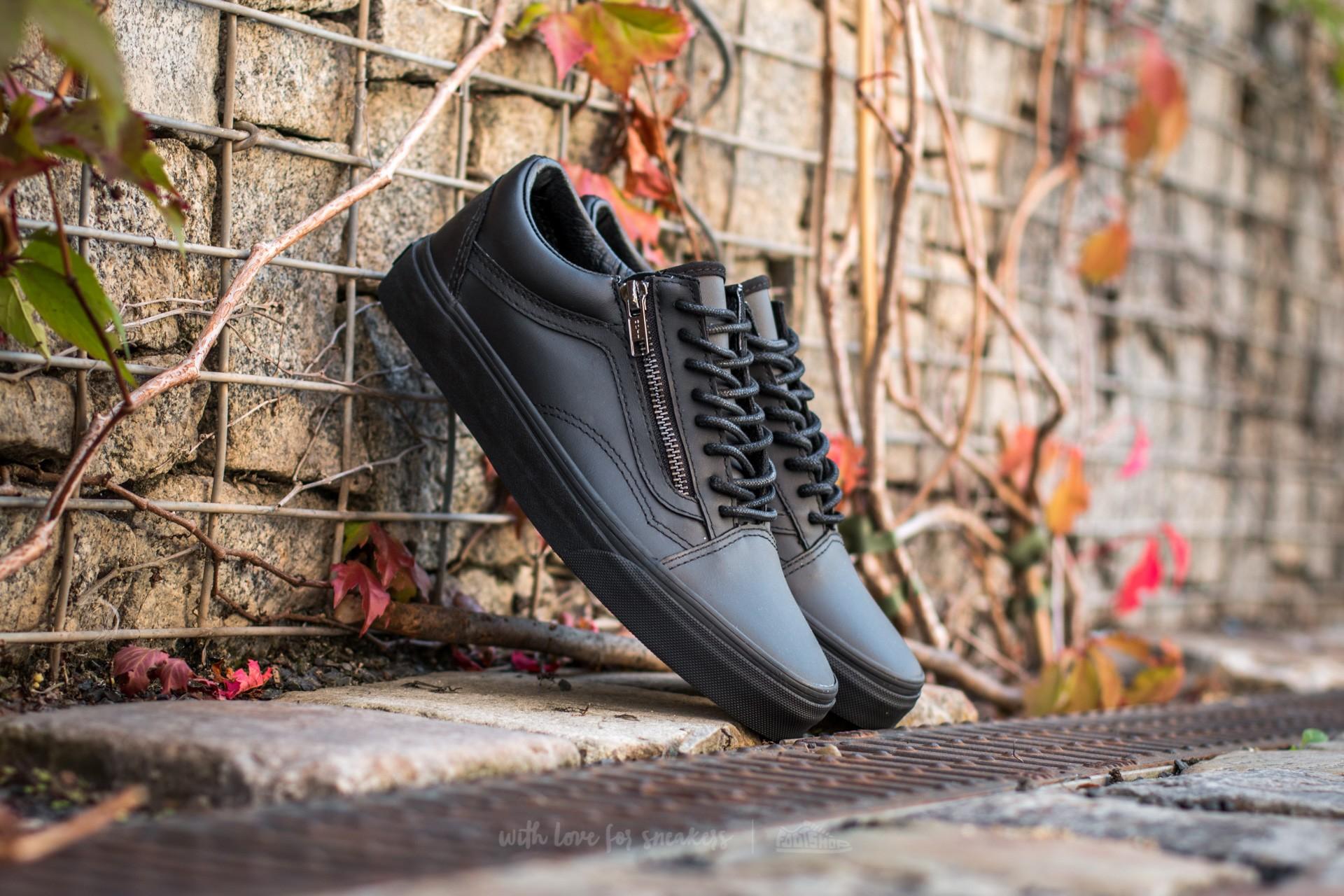 7eb9edff53 Vans Old Skool Zip (Gunmetal) Black  Black