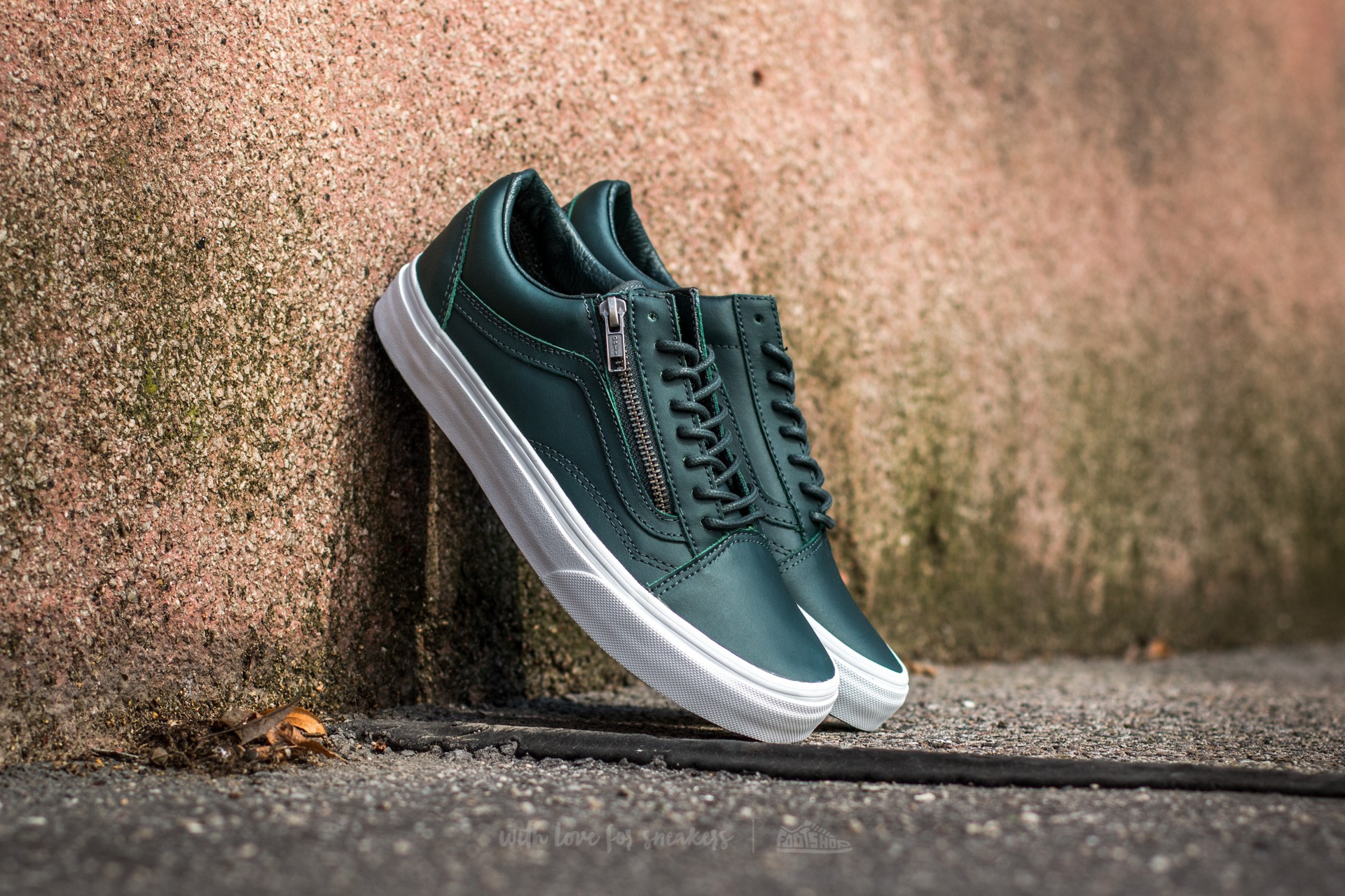 Vans Old Skool Zip Antique Silver Green Gables Footshop