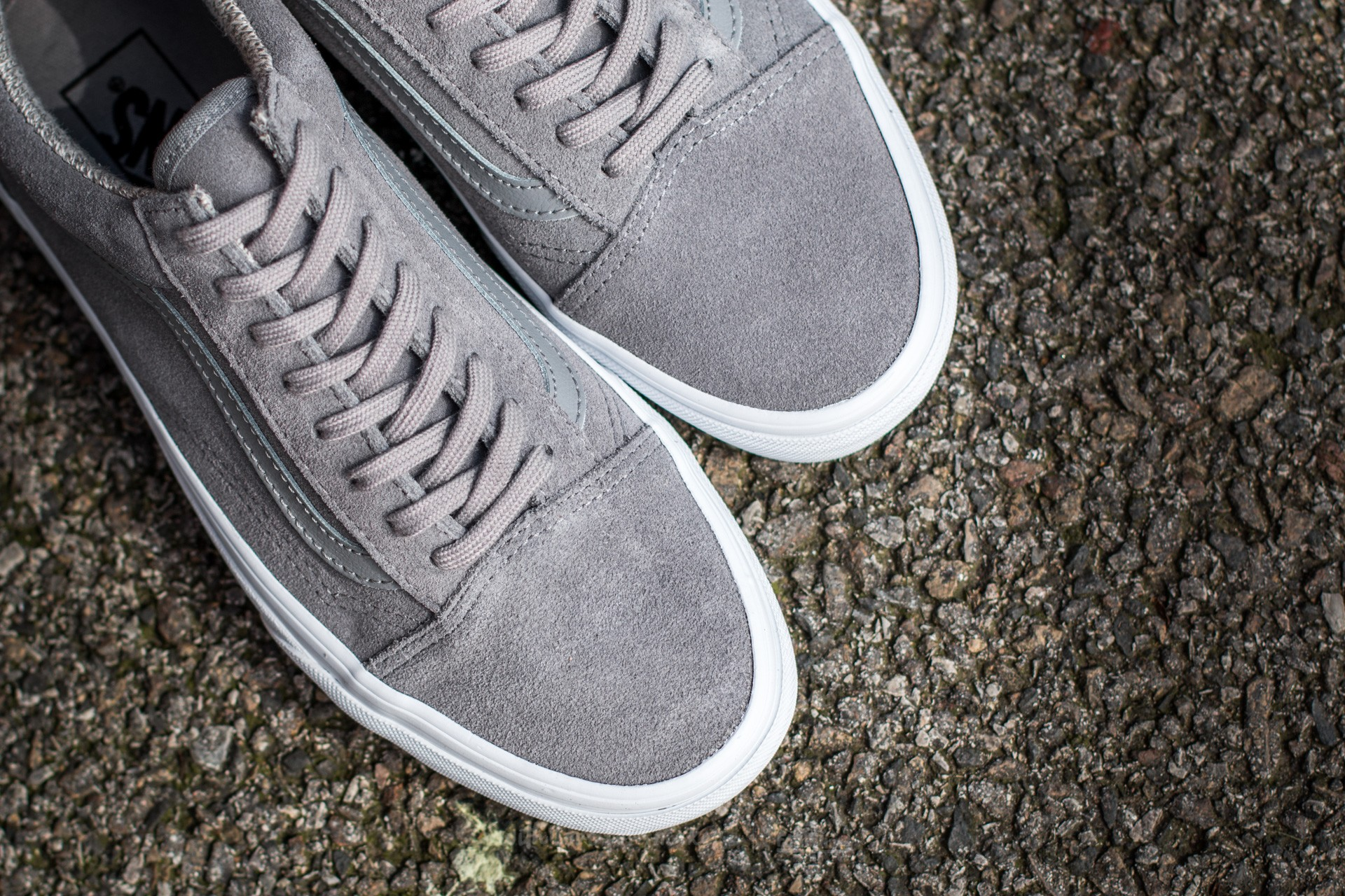 Vans Old Skool (Suede Woven) Gray True White | Footshop