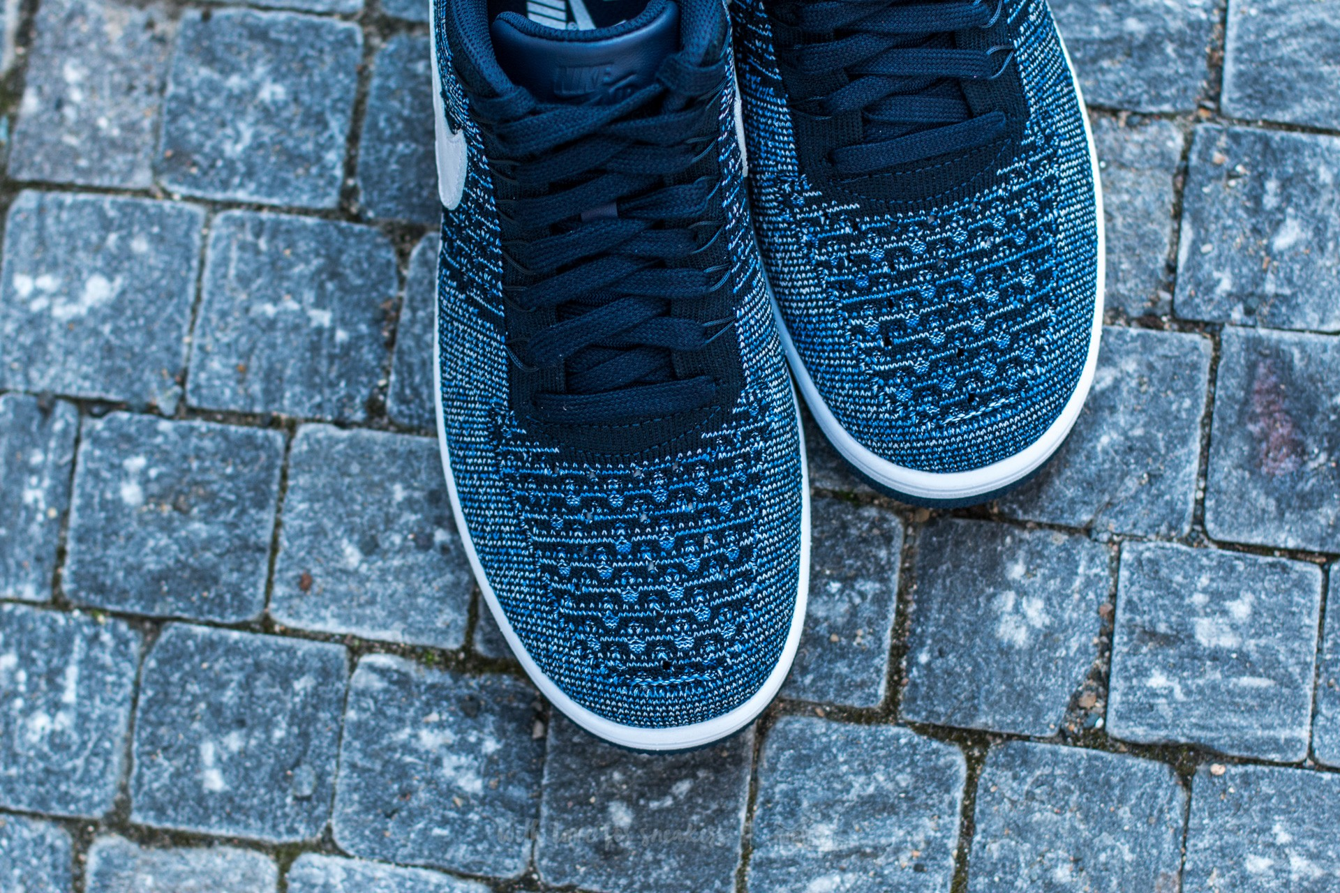 Nike Air Force 1 Ultra Flyknit Low Obsidian White Star Blue Pure Platinum | Footshop