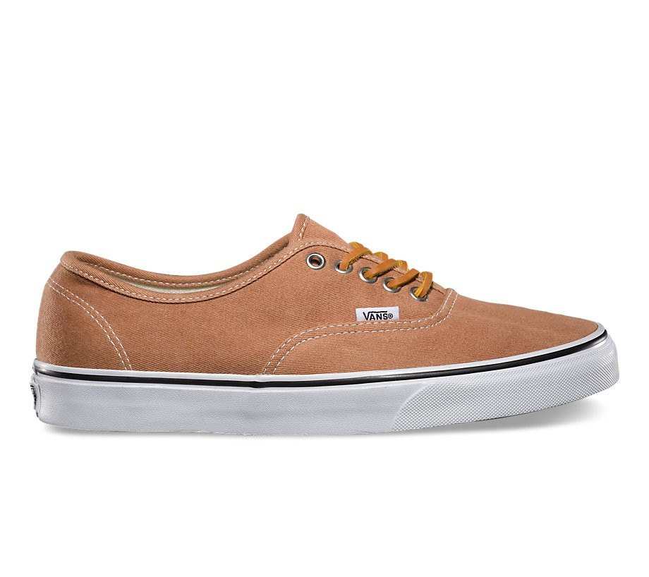 4eba5d02efad4a Vans Authentic (Brushed Twill) Leather Brown