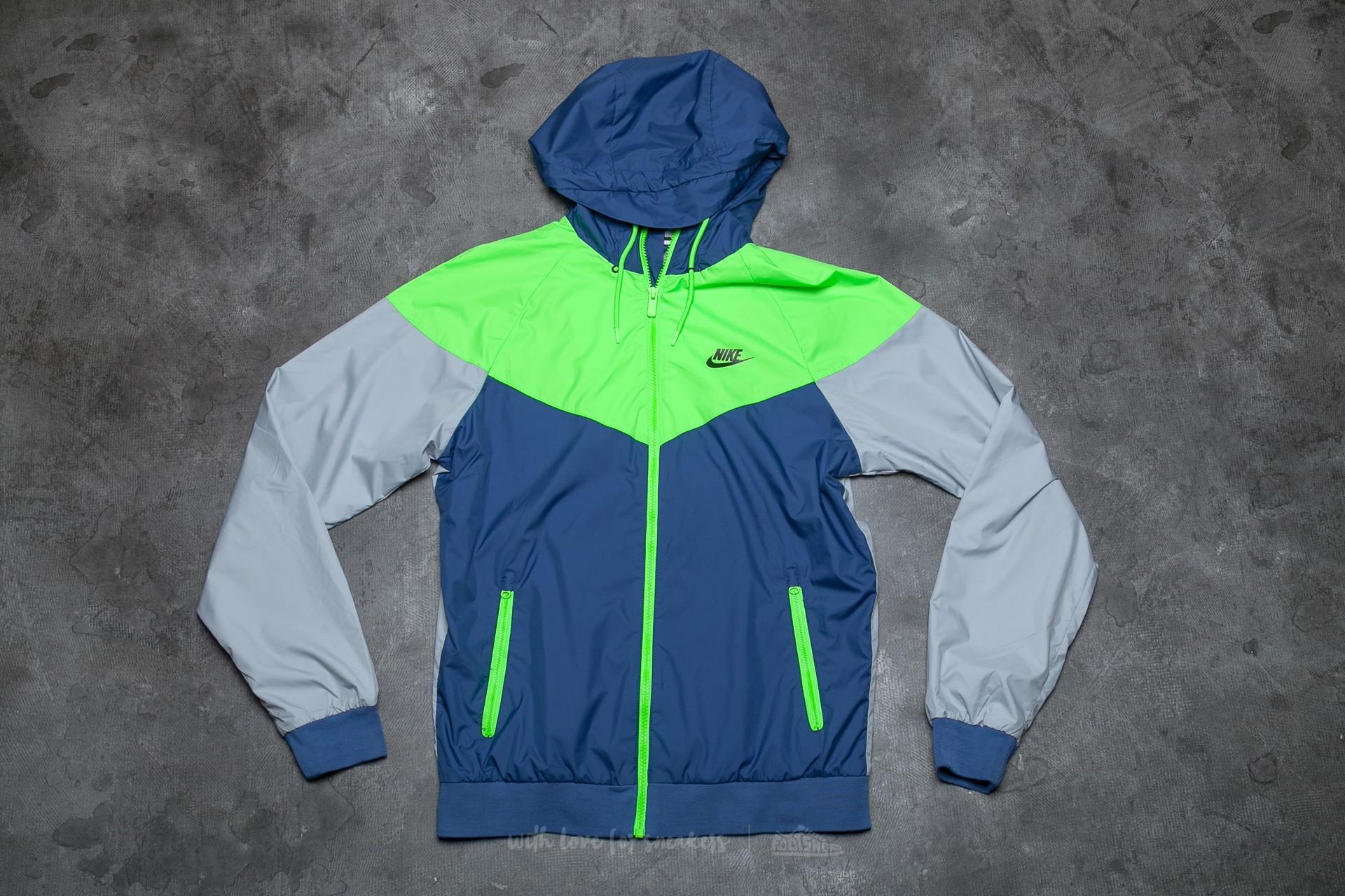 b096845708 Nike Sportswear Windrunner Coastal Blue  Electric Green  Black ...