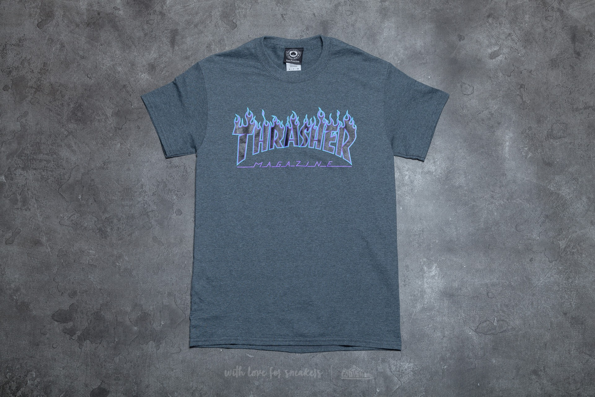 a304a9fdbbb5 Thrasher Flame Logo T-Shirt Dark Heather | Footshop