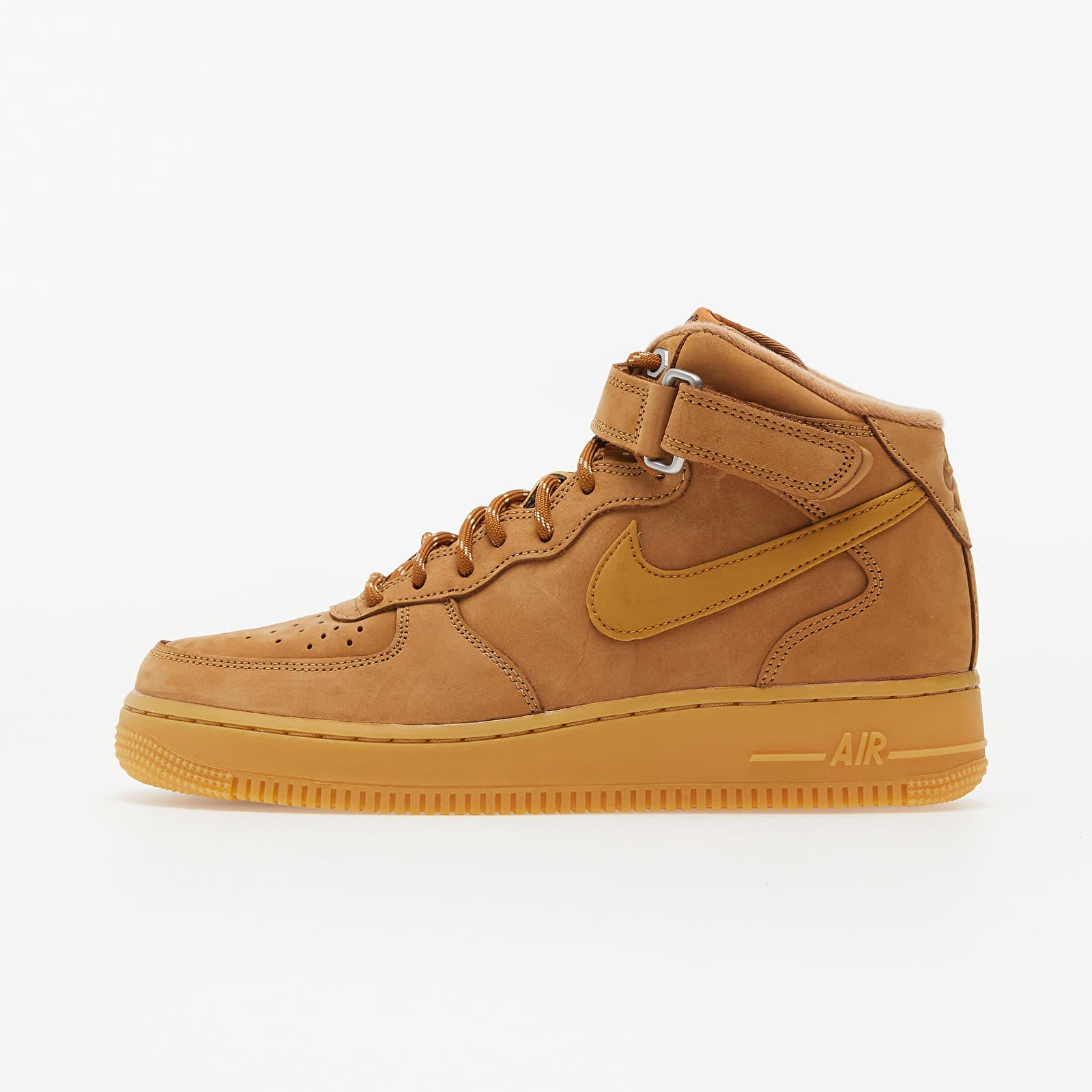 Nike Air Force 1 Mid '07 Flax/ Wheat-Gum Light Brown-Black EUR 39
