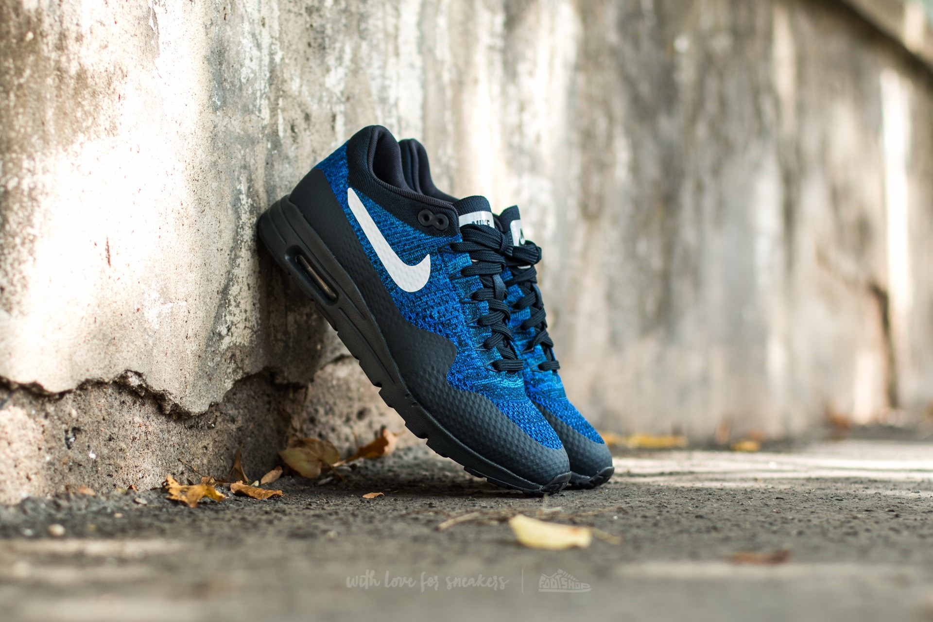 989da1b27eb4 Nike W Air Max 1 Ultra Flyknit Dark Obsidian  White-Racer Blue-Photo ...