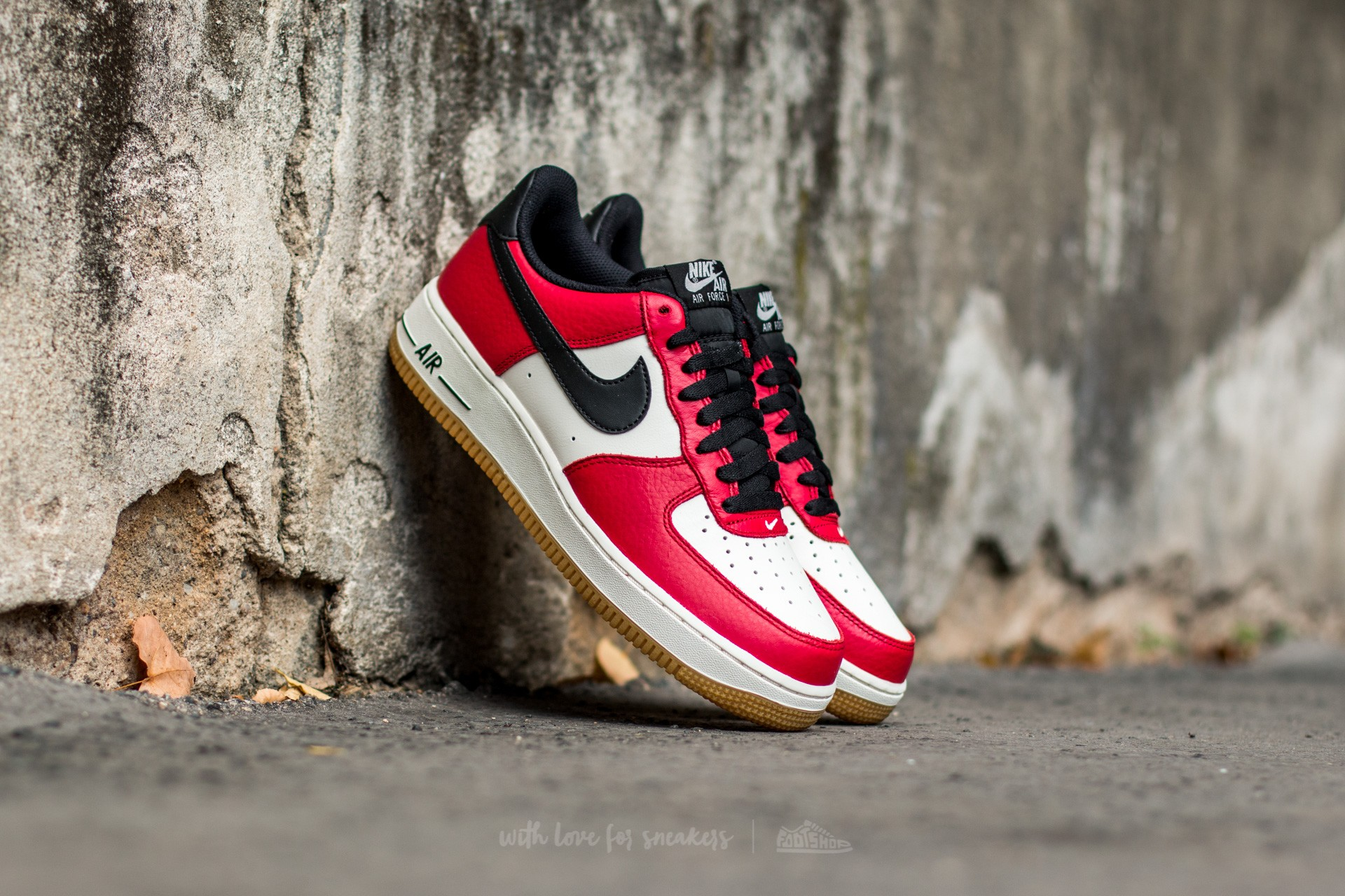 size 40 e87f1 64bf3 Nike Air Force 1 Gym Red  Black-Gum Light Brown-Sail