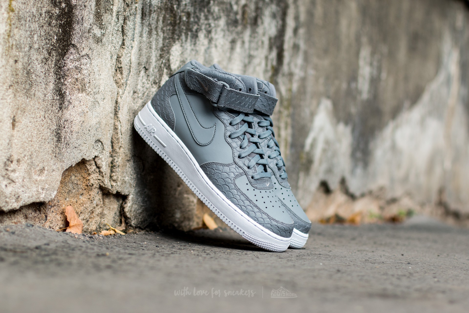 sports shoes eb3af 311b3 Nike Air Force 1 Mid  07 LV8. Cool Grey  Cool Grey-White