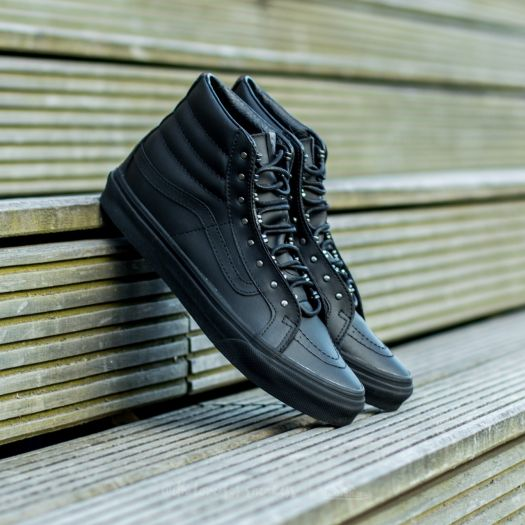 Vans Sk8 Hi Slim (Rivets) Gunmetal Black | Footshop