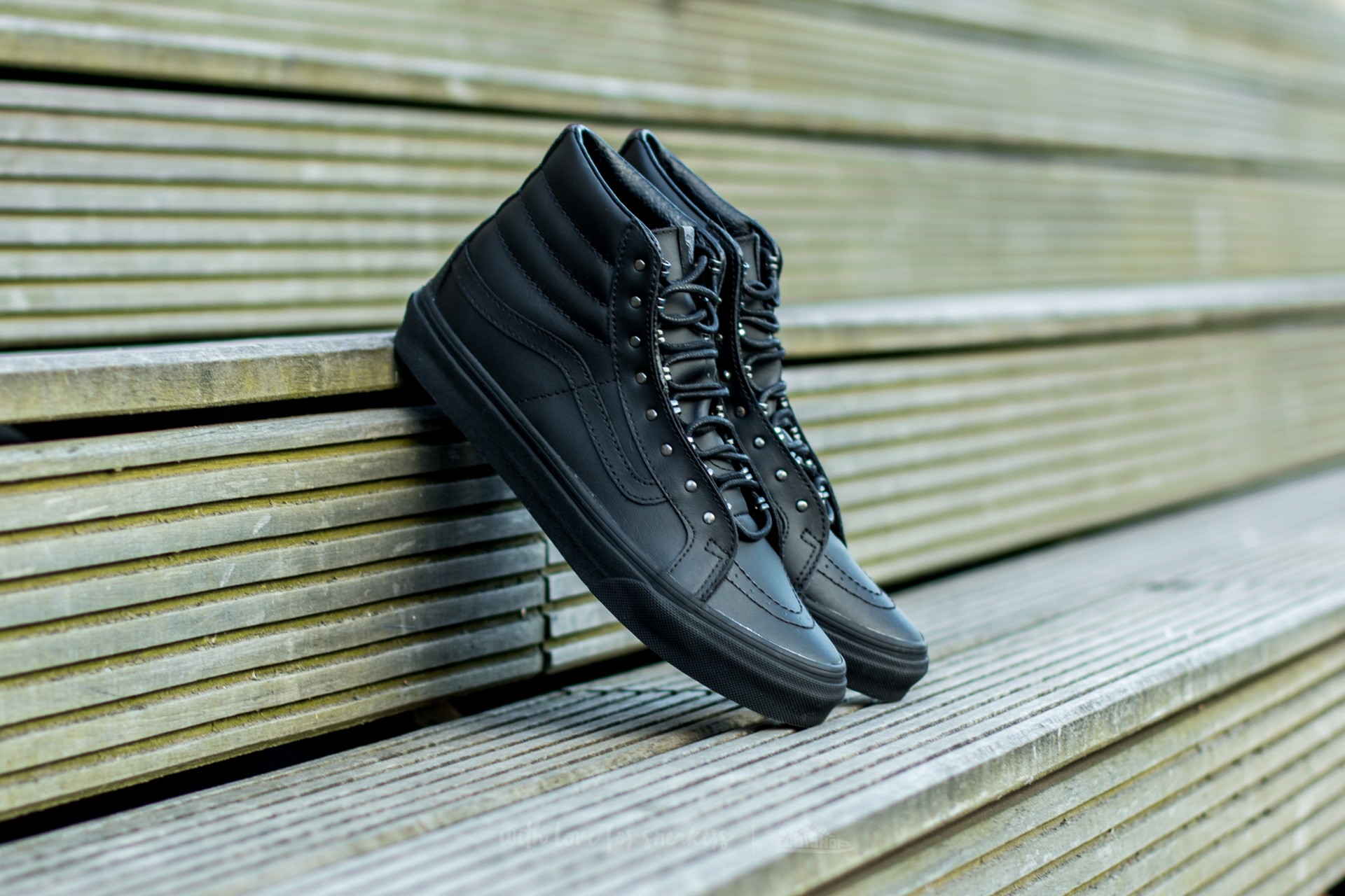 53bd2dea8c Vans Sk8-Hi Slim (Rivets) Gunmetal  Black