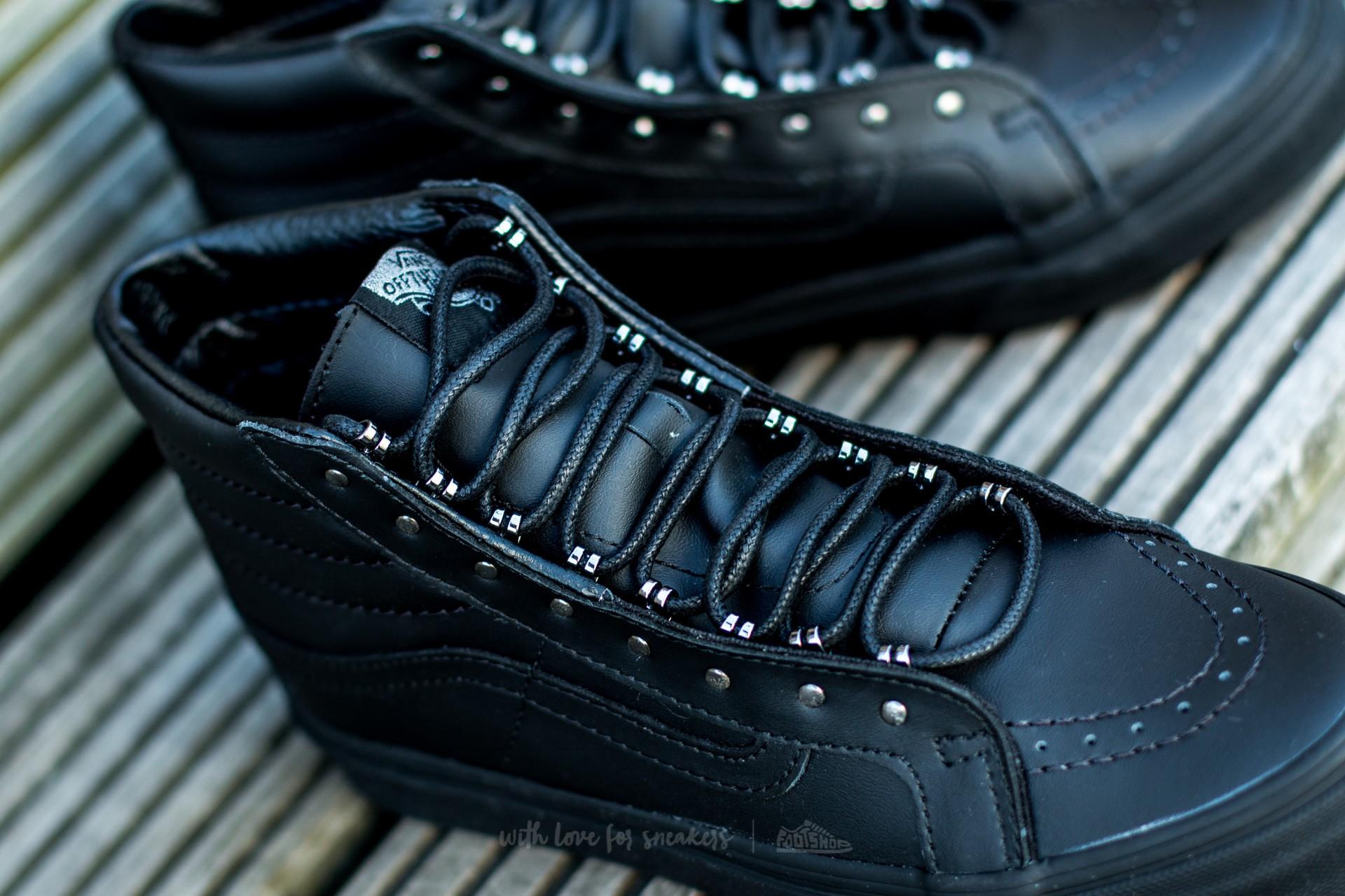 Vans Sk8 Hi Slim (Rivets) Gunmetal Black | Footshop