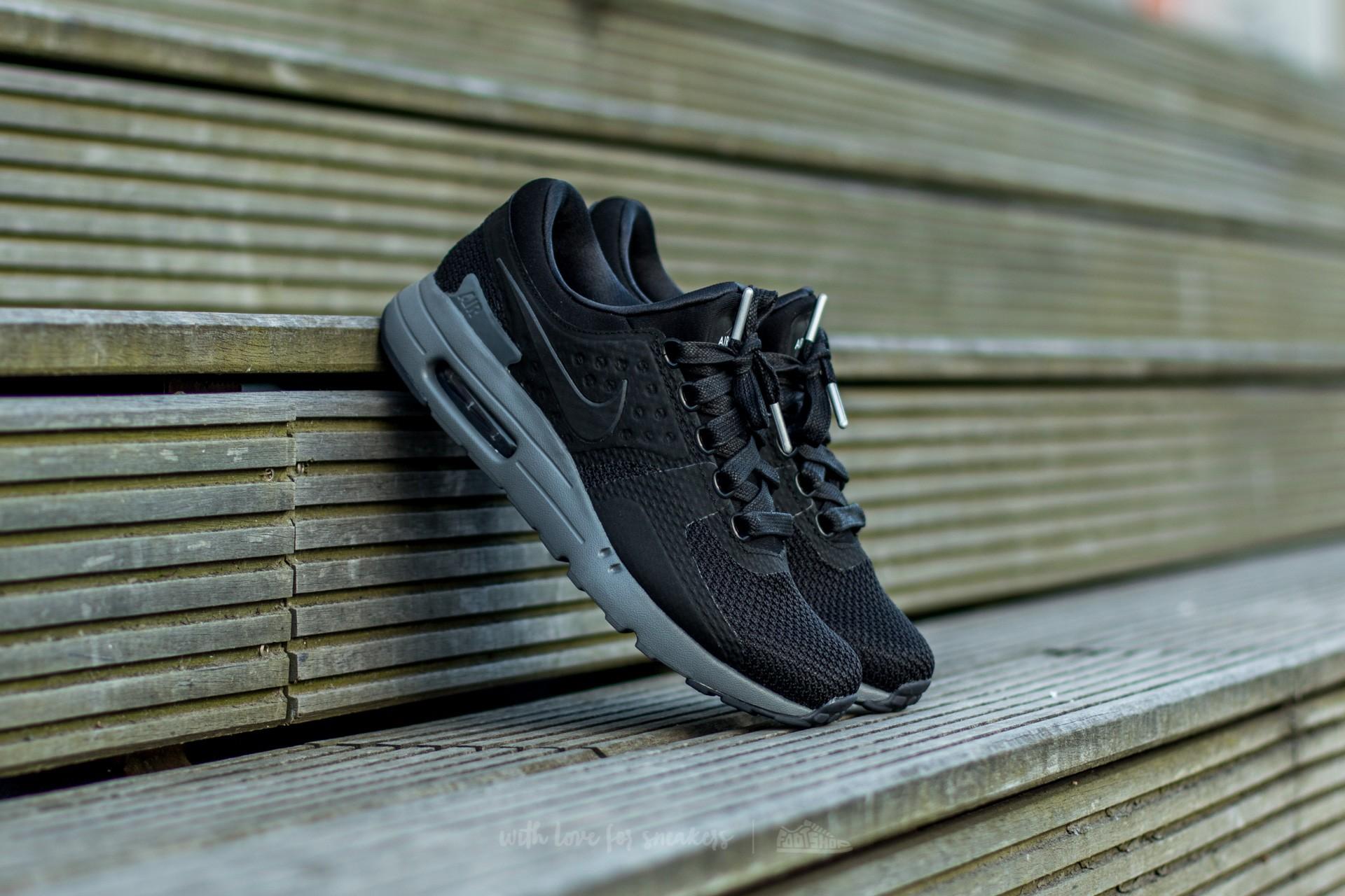 Inspección Señor alquiler  Men's shoes Nike Air Max Zero QS Black/ Black-Dark Grey