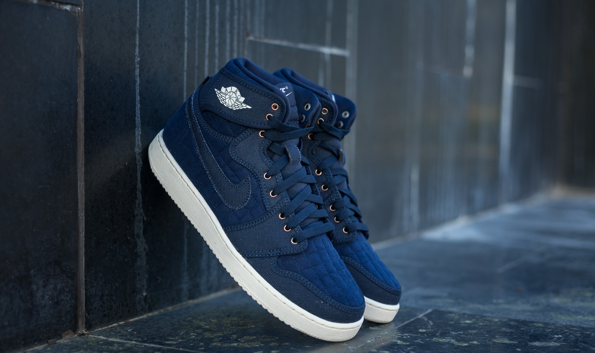 "Air Jordan 1 KO High OG ""Quilted"" Obsidian/ White-Metallic Red Bronze EUR 44"