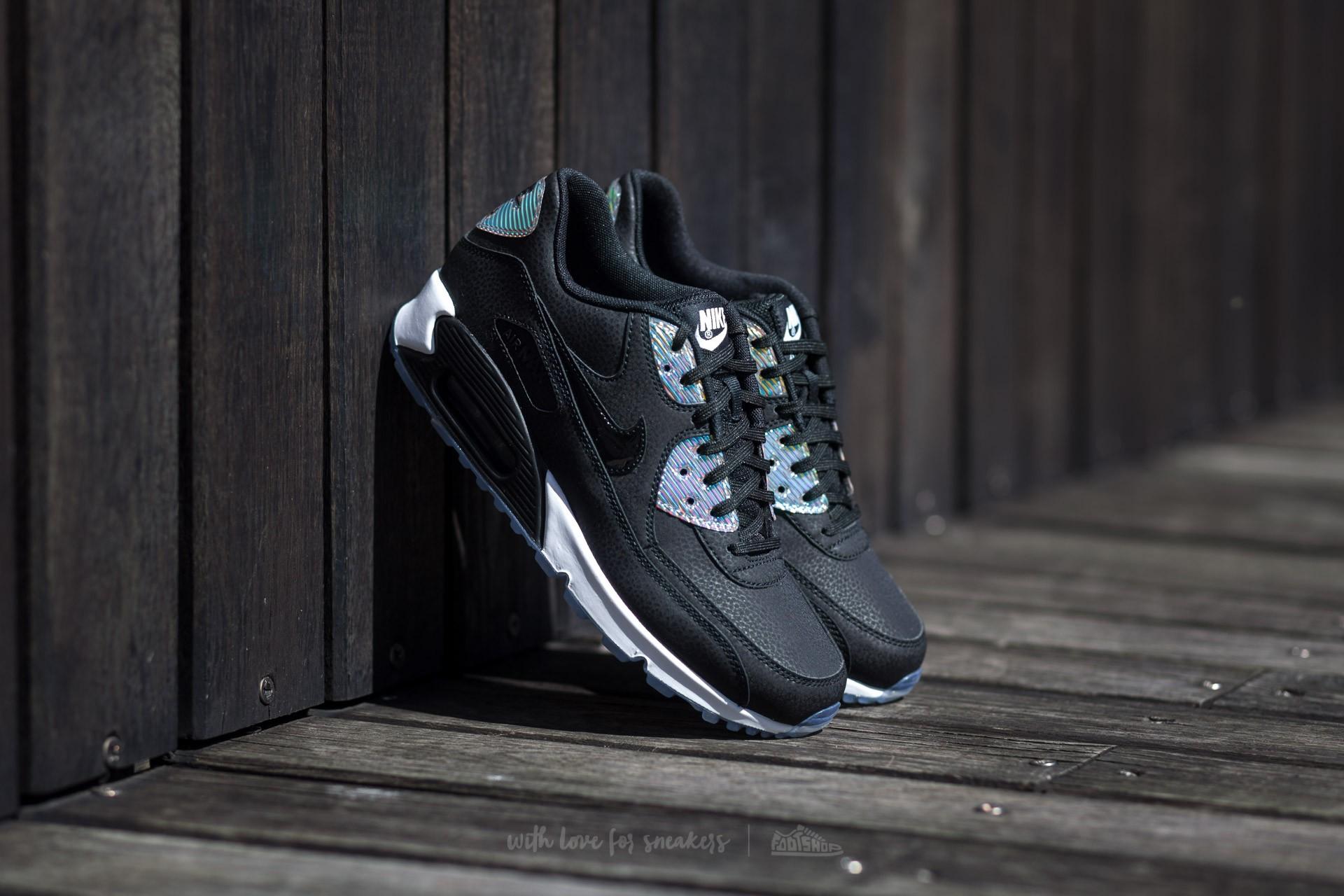 e54547323fac Nike Wmns Air Max 90 Mesh Premium Black  Black-Pure Platinum