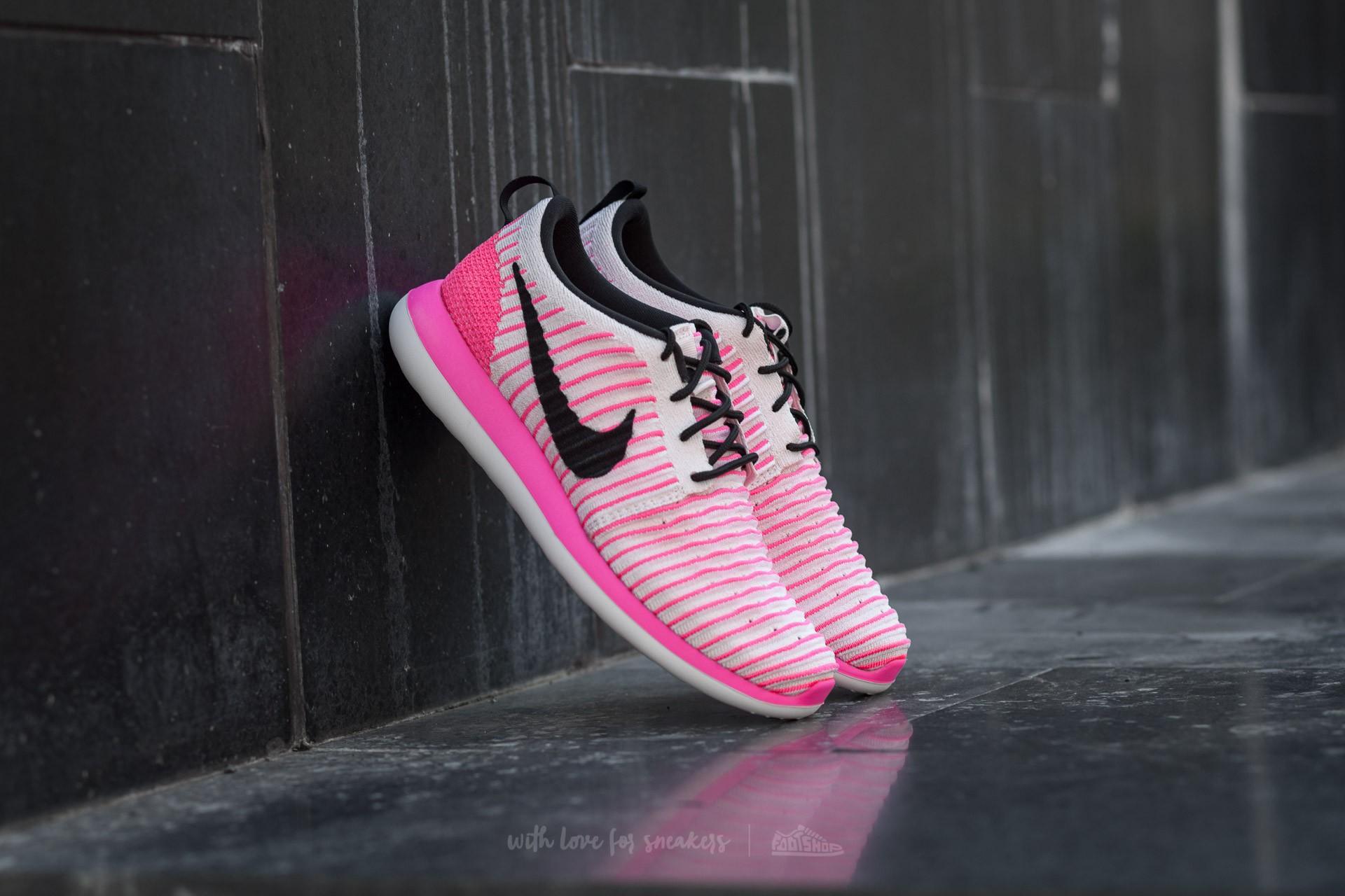 new styles 3954a 083ec Nike Roshe Two Flyknit (GS) Pearl Pink/ Black-Pink Blast ...
