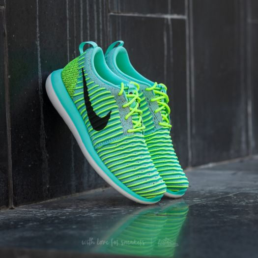 the latest d8aff 5f18c Nike Roshe Two Flyknit (GS) Hyper Turquoise/ Black-Volt ...