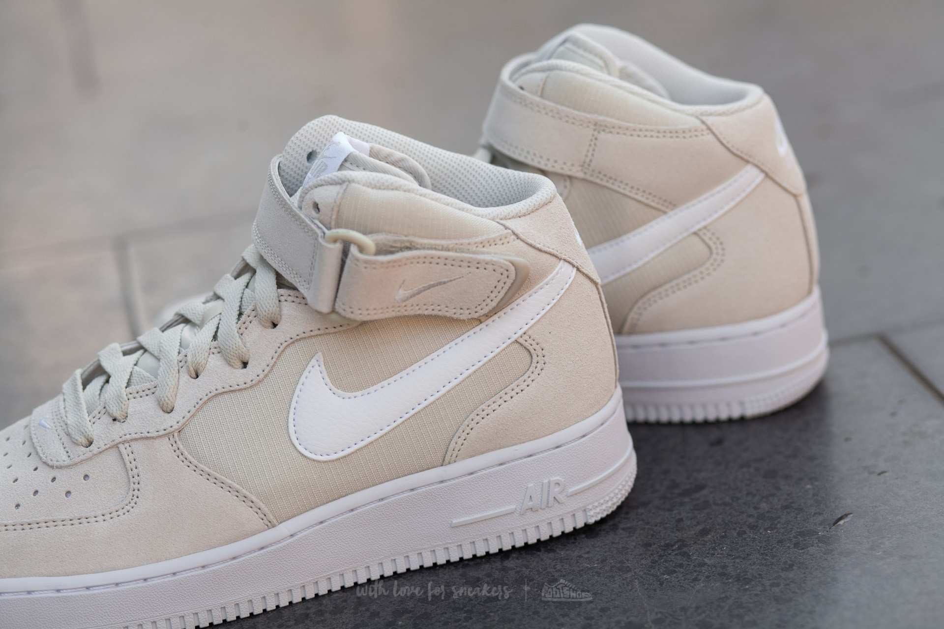 Nike Air Force 1 Mid ´07 Light Bone White white Men's