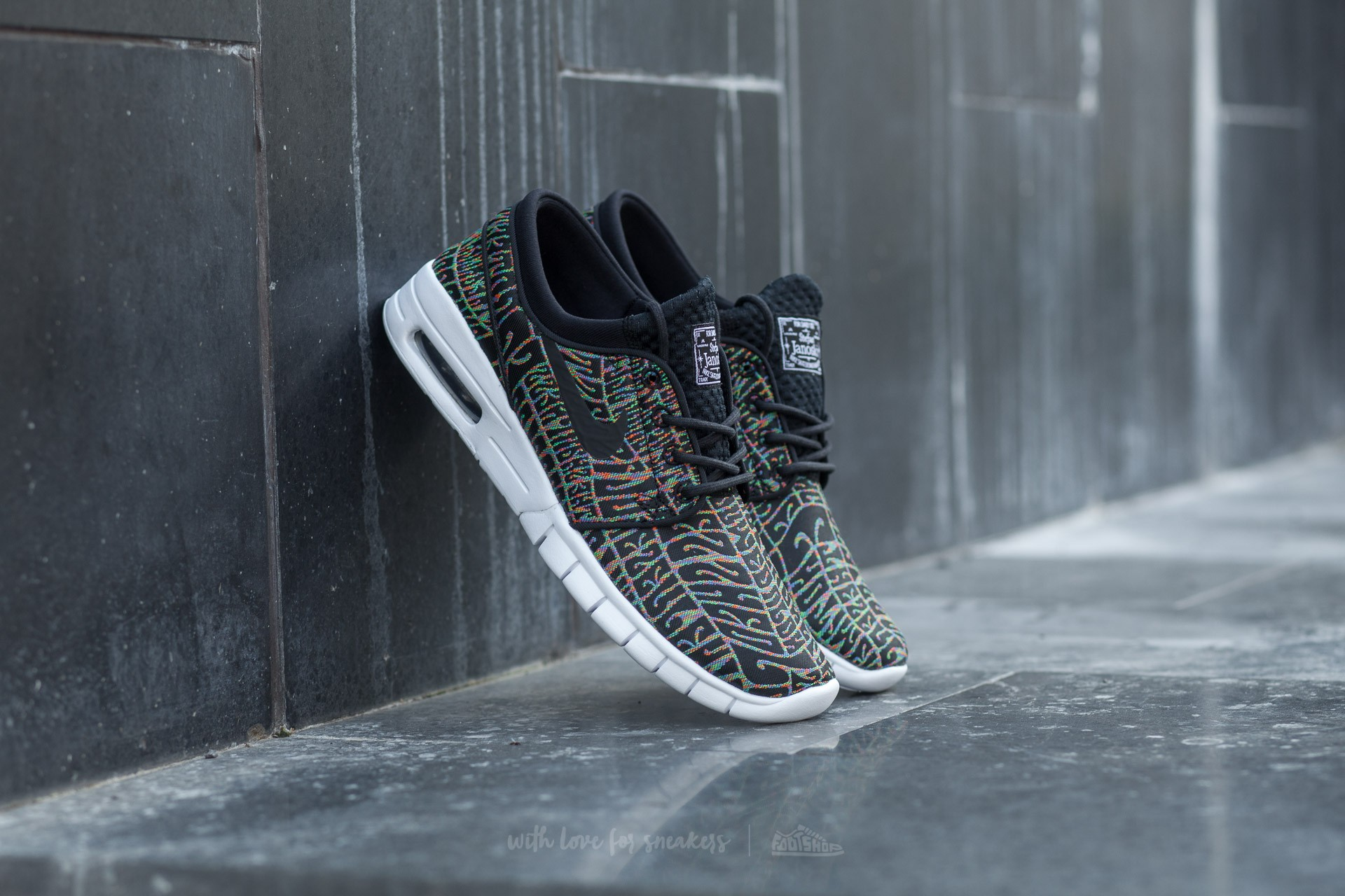 new products 0a6d0 b1a8d Nike Stefan Janoski Max Premium. Black  Black-White-Multi-Color