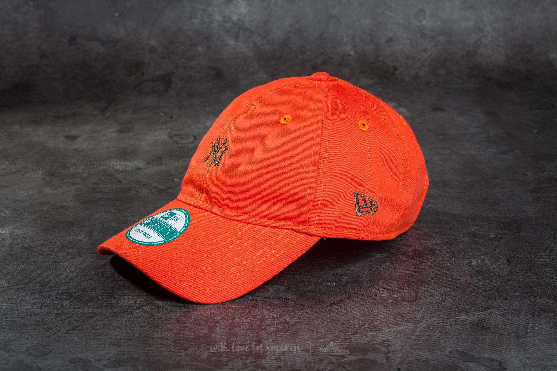 9ffc66b4529 New Era Essential 9Forty Adjustable New York Yankees Cap Orange ...